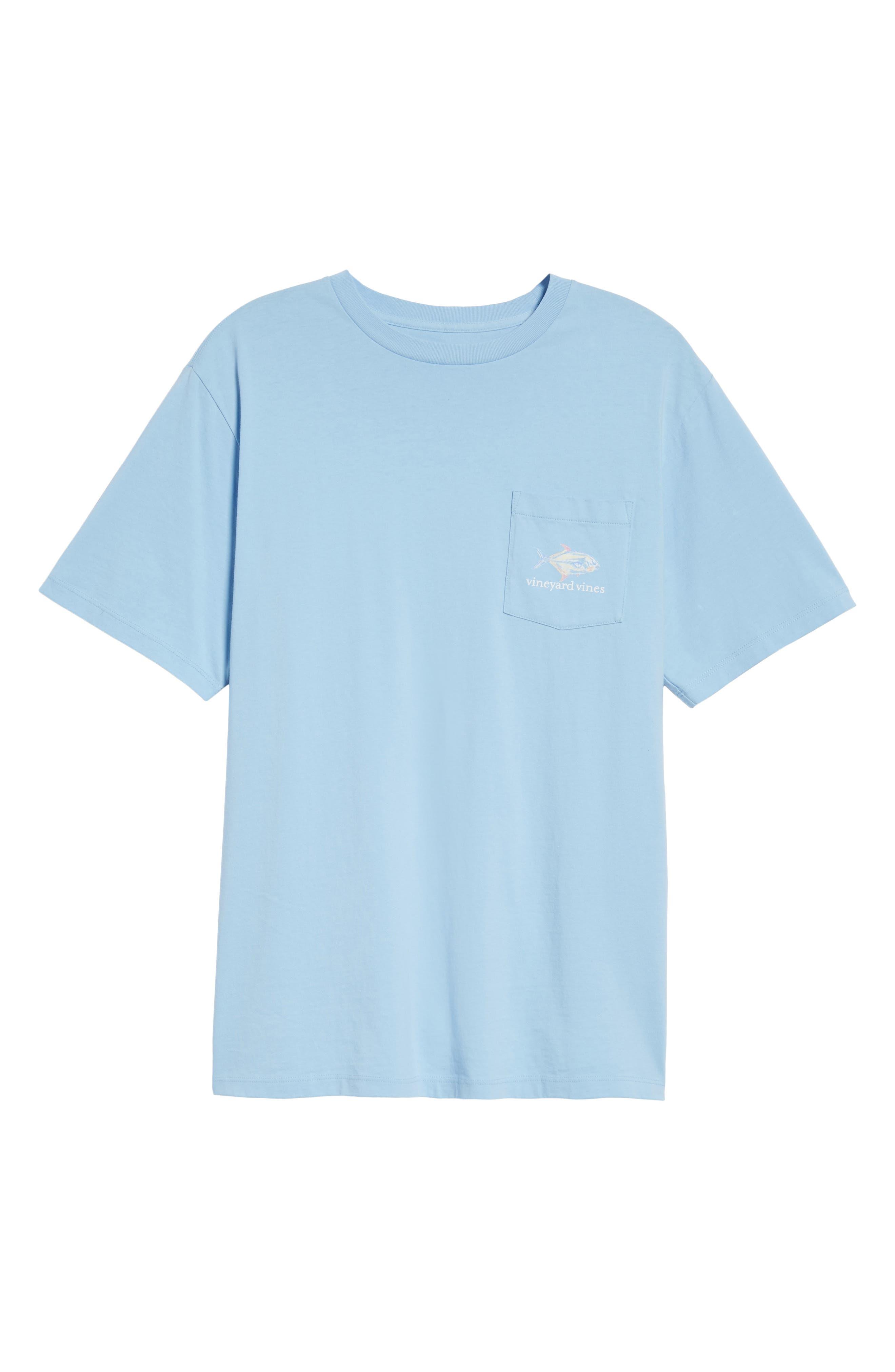 Painted Permit Graphic Pocket T-Shirt,                             Alternate thumbnail 6, color,                             Jake Blue