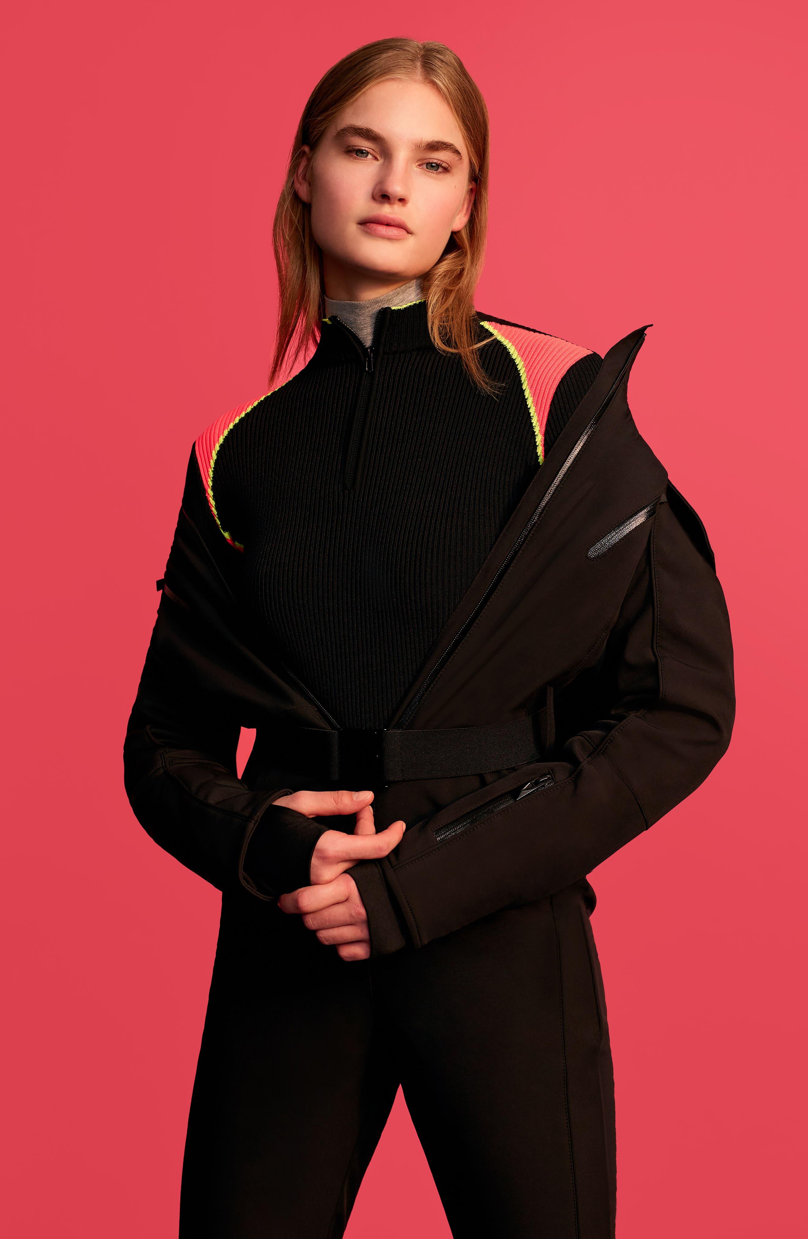 SNO Gladiator Faux Fur Hood Puffer Jacket,                             Alternate thumbnail 2, color,                             Black