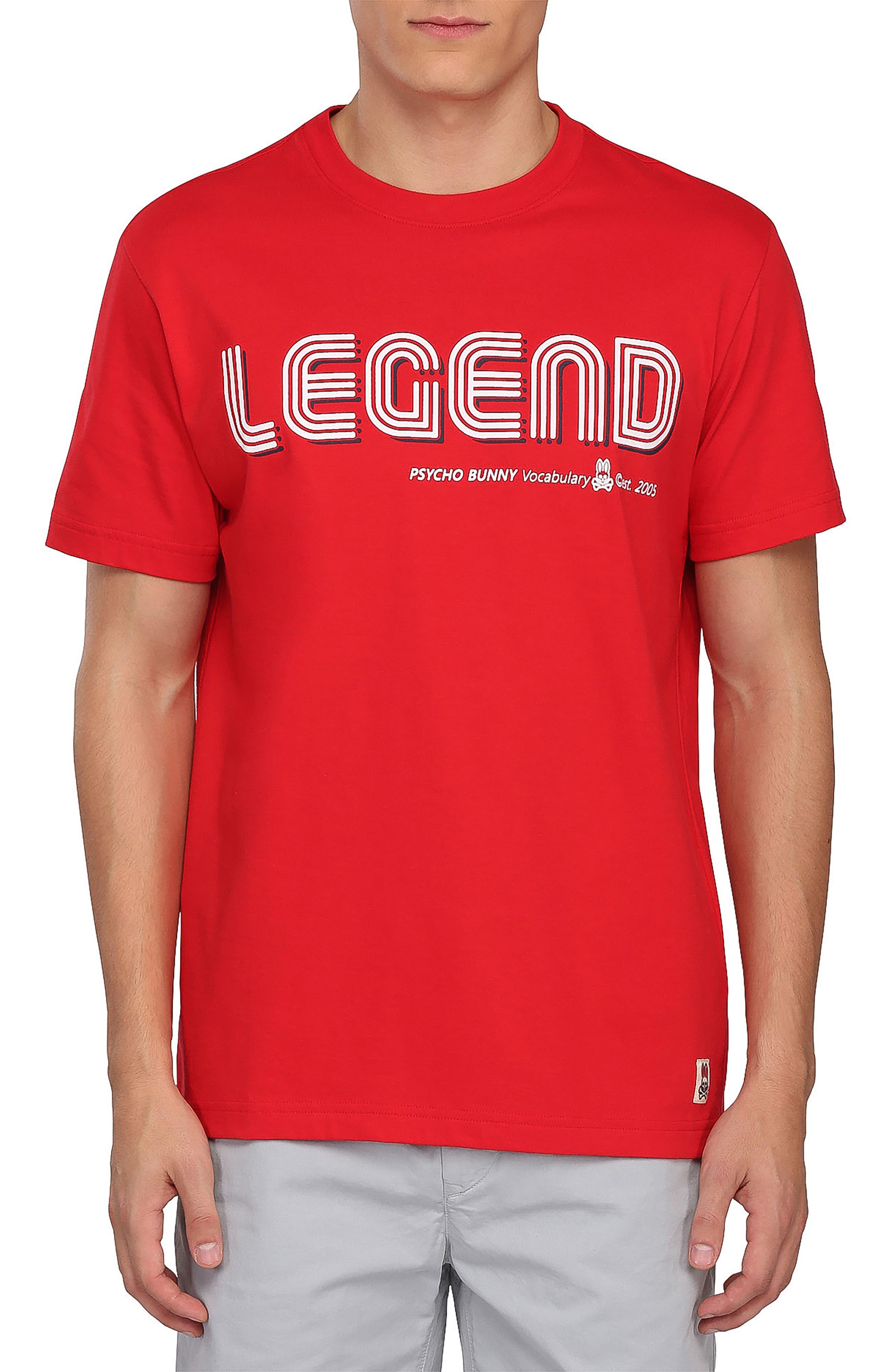 Legend Graphic T-Shirt,                             Main thumbnail 1, color,                             Brilliant Red