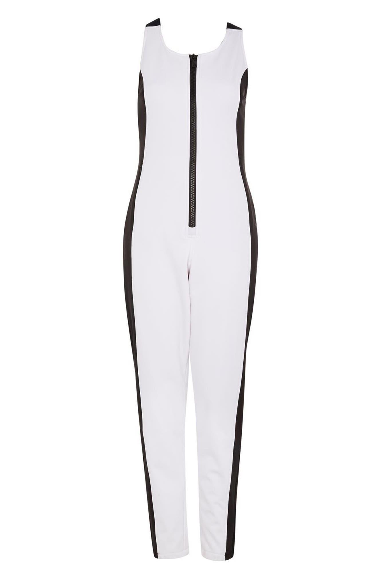SNO Shadow Jumpsuit,                             Alternate thumbnail 4, color,                             White
