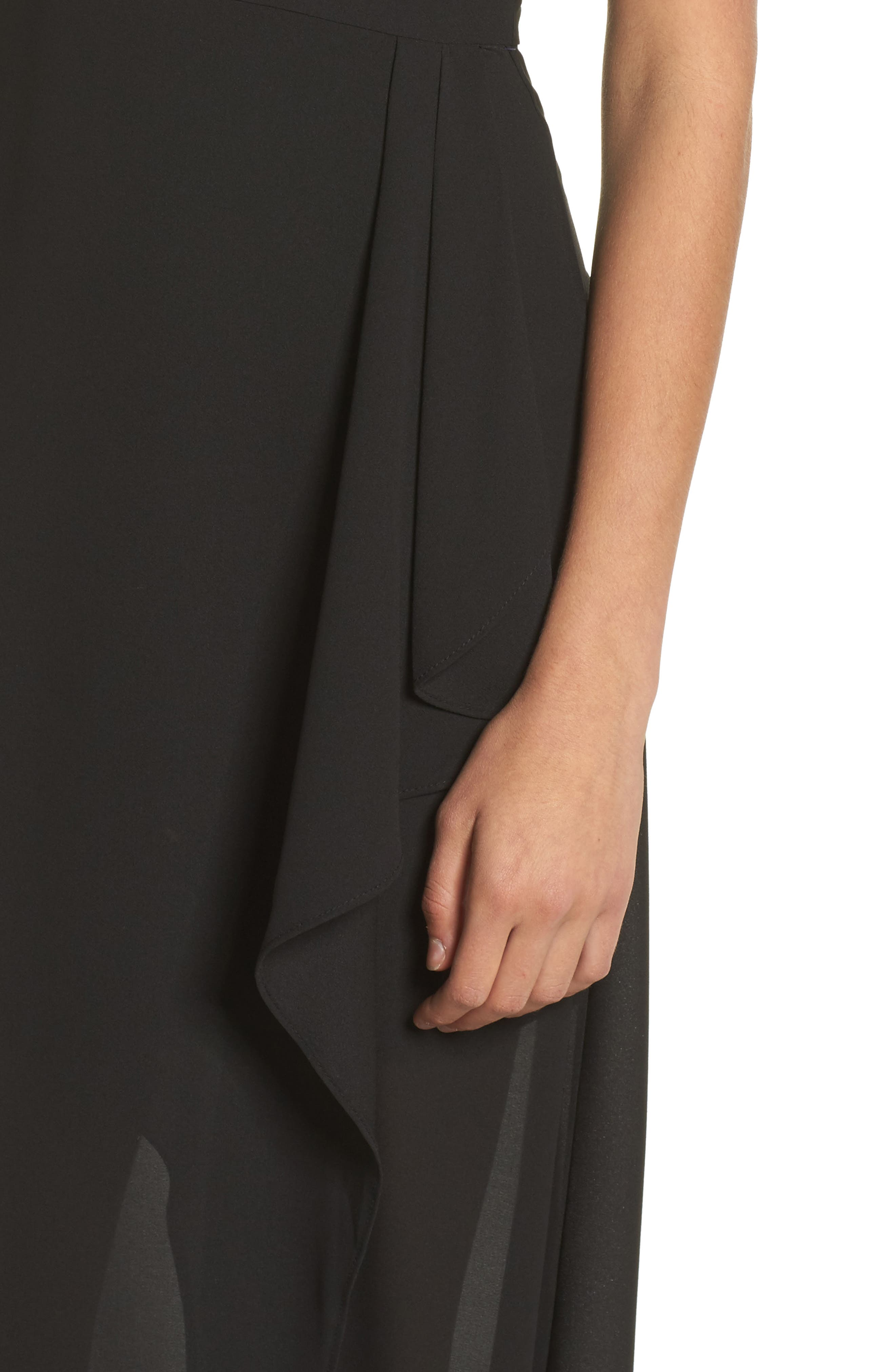 I Spy Maxi Dress,                             Alternate thumbnail 4, color,                             Black