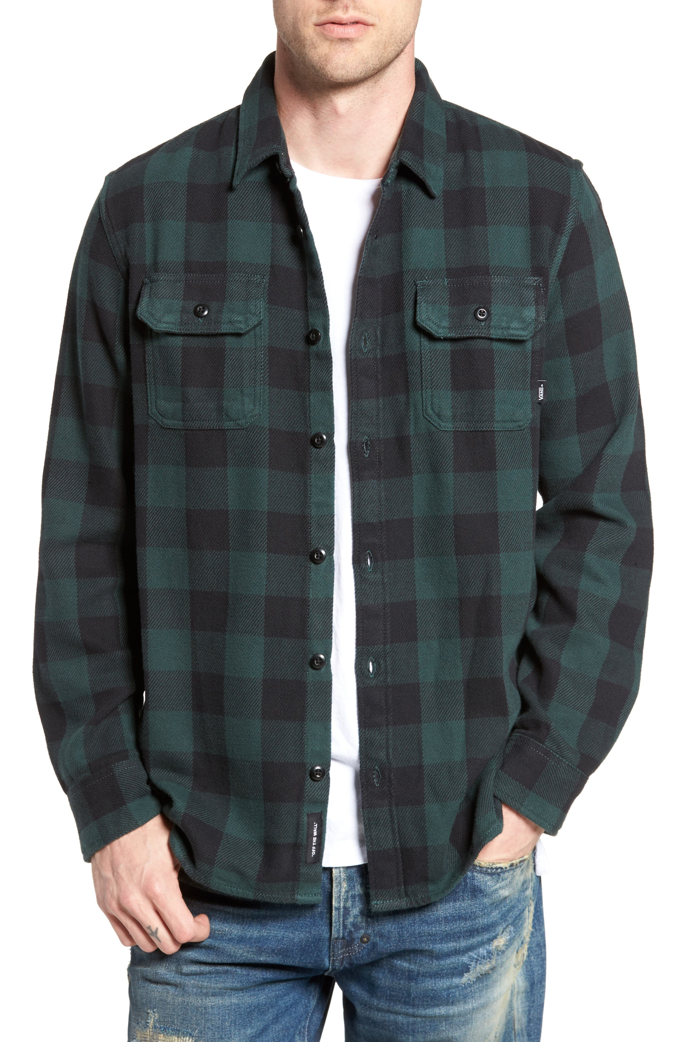 Wisner Plaid Shirt,                             Main thumbnail 1, color,                             Vans Scarab