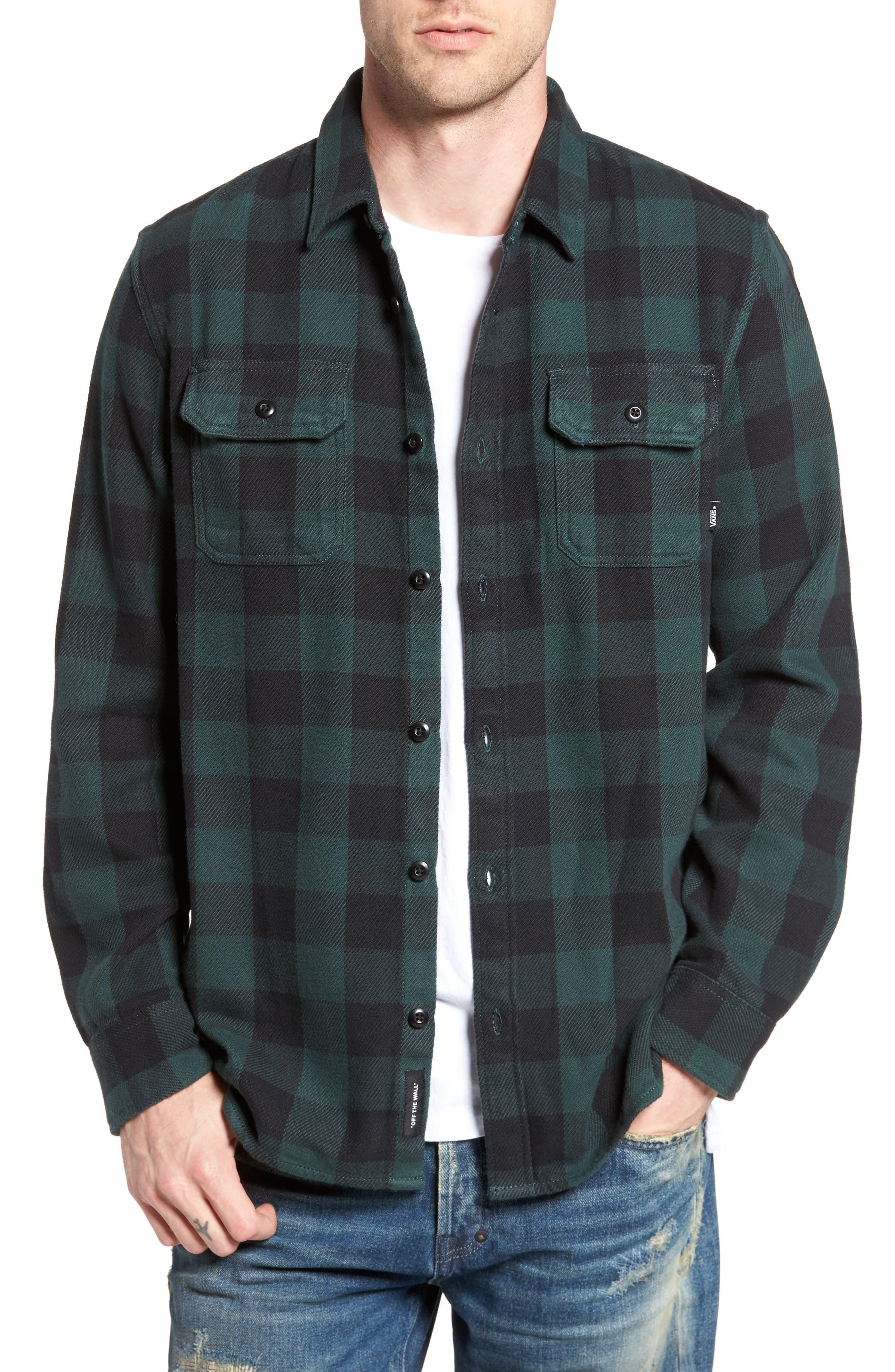Wisner Plaid Shirt,                         Main,                         color, Vans Scarab