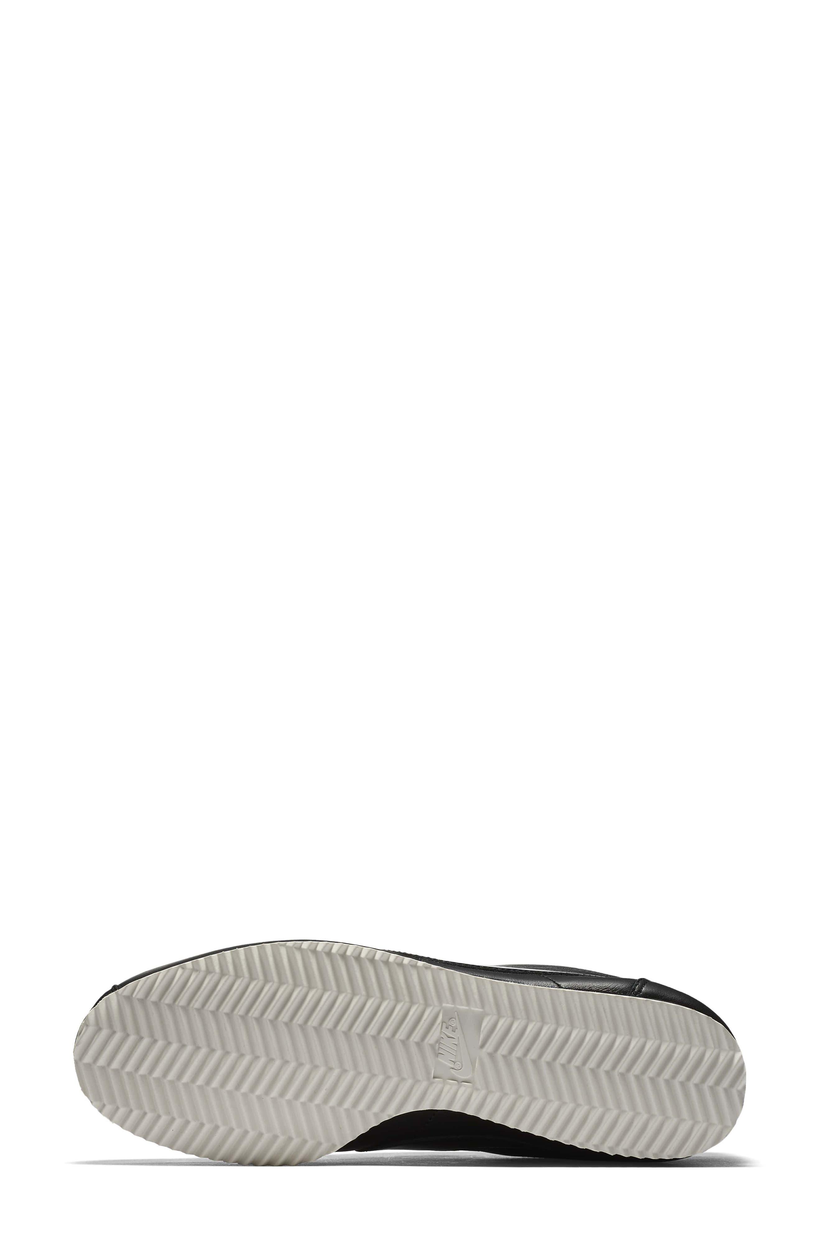 Classic Cortez SE Premium Sneaker,                             Alternate thumbnail 6, color,                             Black/ Black Reflect Silver