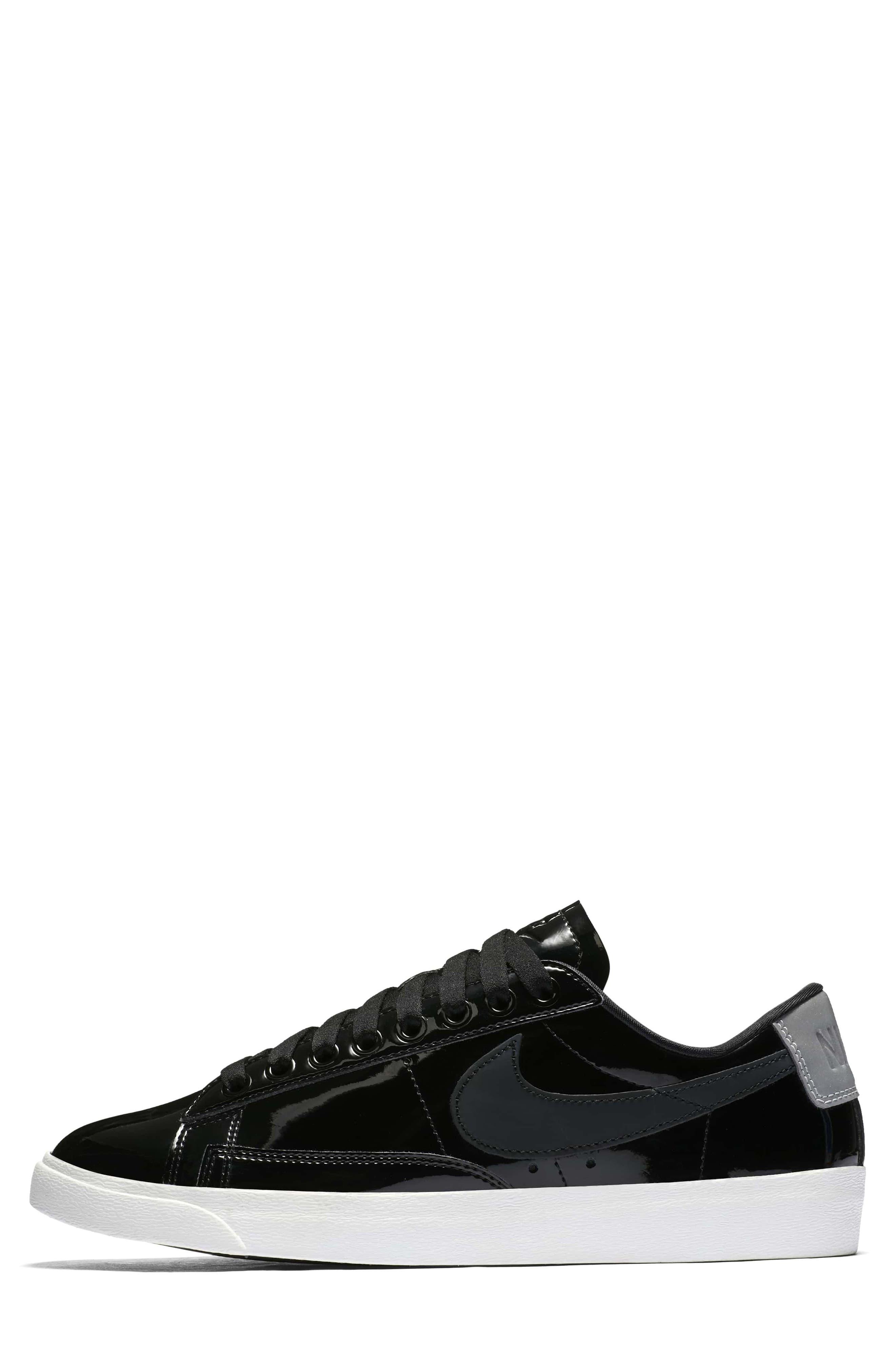 Blazer Low Top Sneaker SE,                             Alternate thumbnail 2, color,                             Black/ Black Reflect Silver