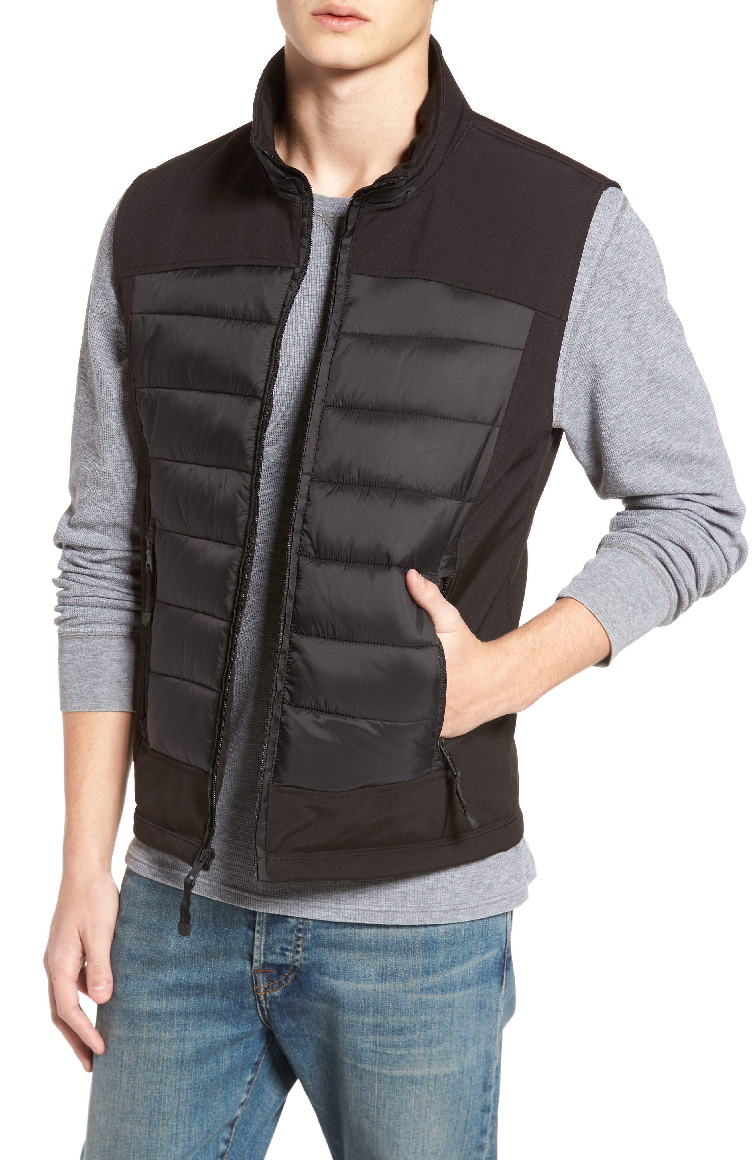 Main Image - Black Rivet Quilted Vest