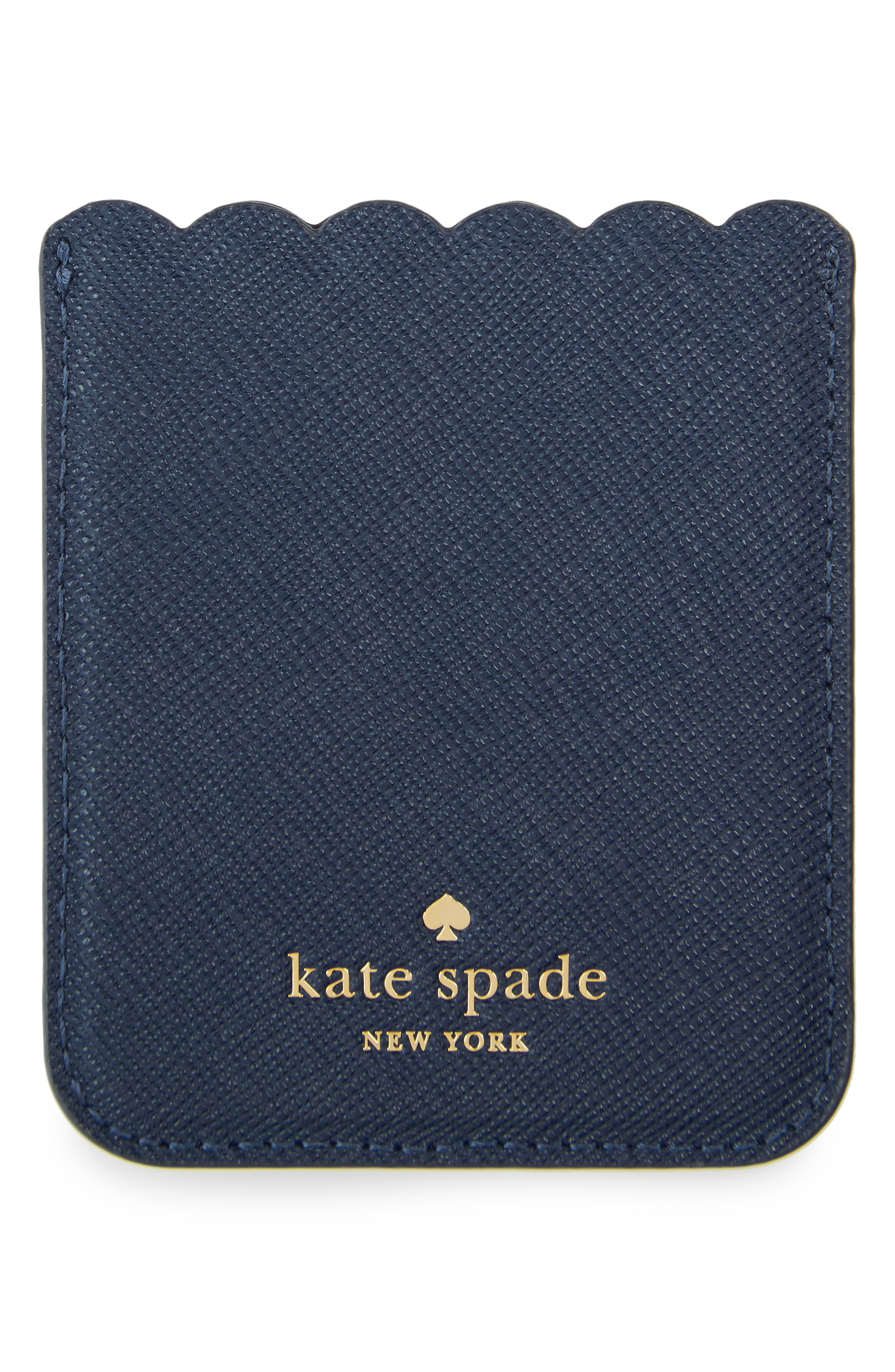 Alternate Image 2  - kate spade new york scallop leather stick-on smartphone case pocket