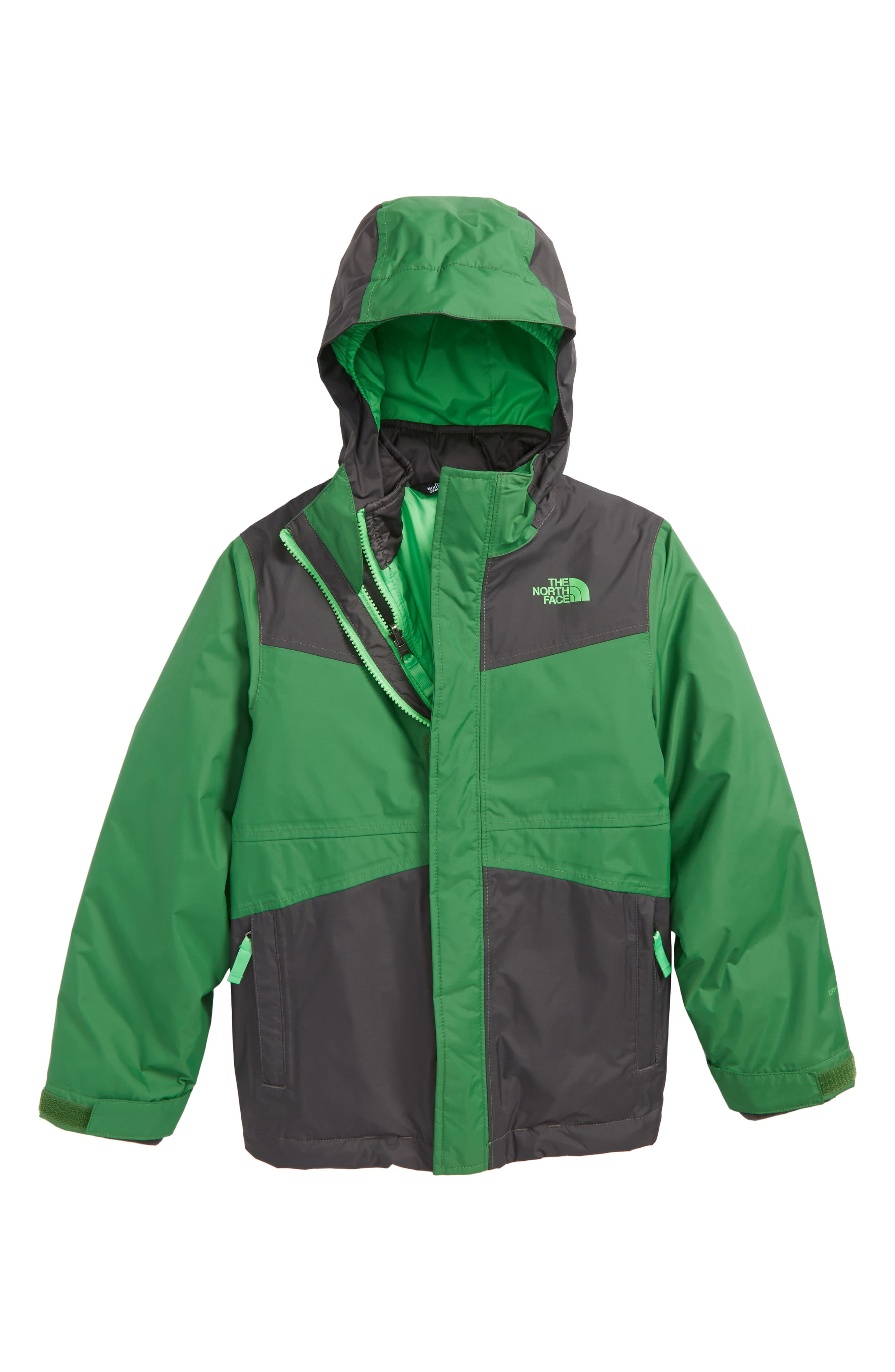 Main Image - The North Face East Ridge Triclimate® Waterproof 3-in-1 Jacket (Big Boys)