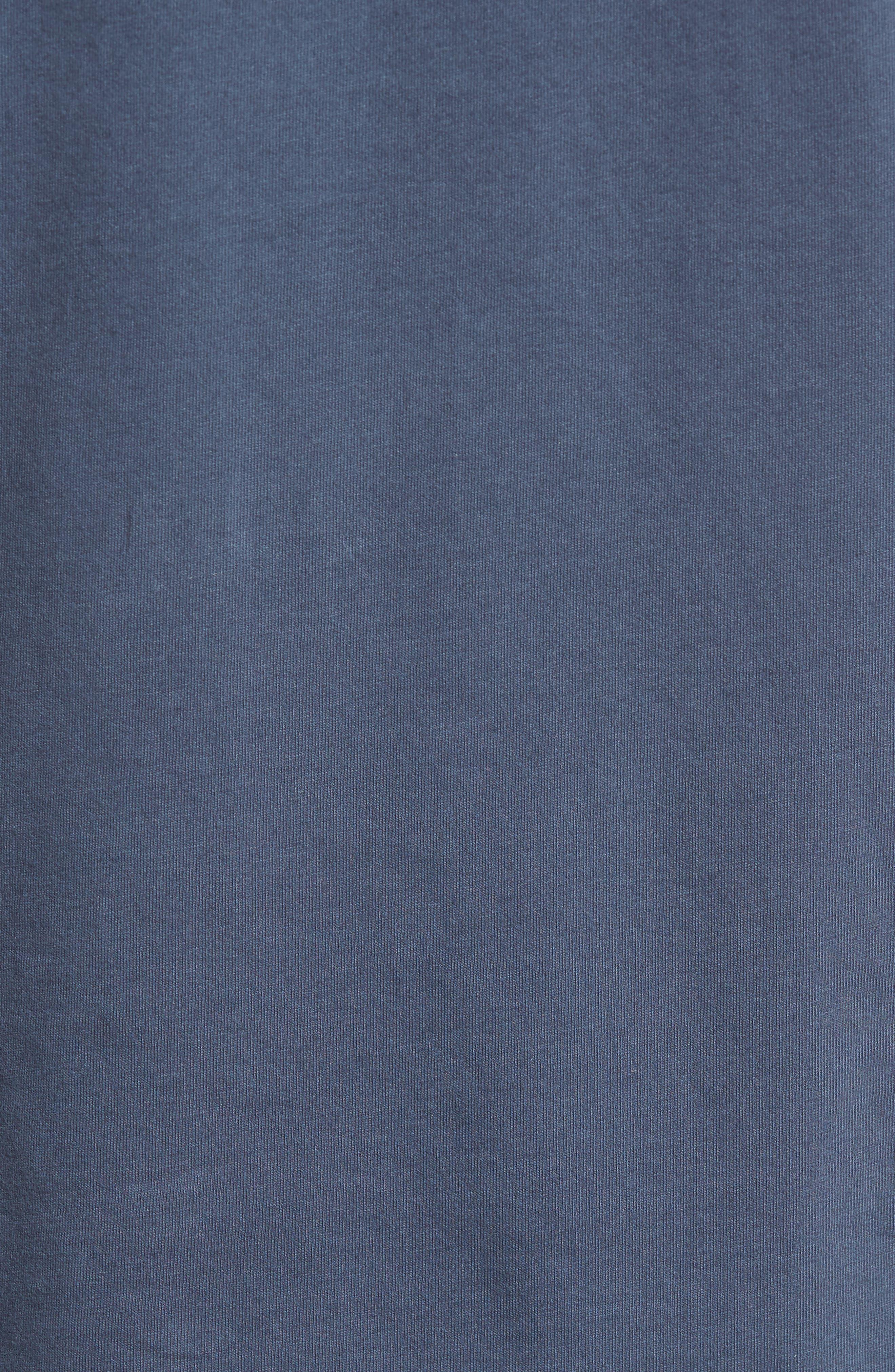 Notch Henley T-Shirt,                             Alternate thumbnail 5, color,                             Vintage Navy