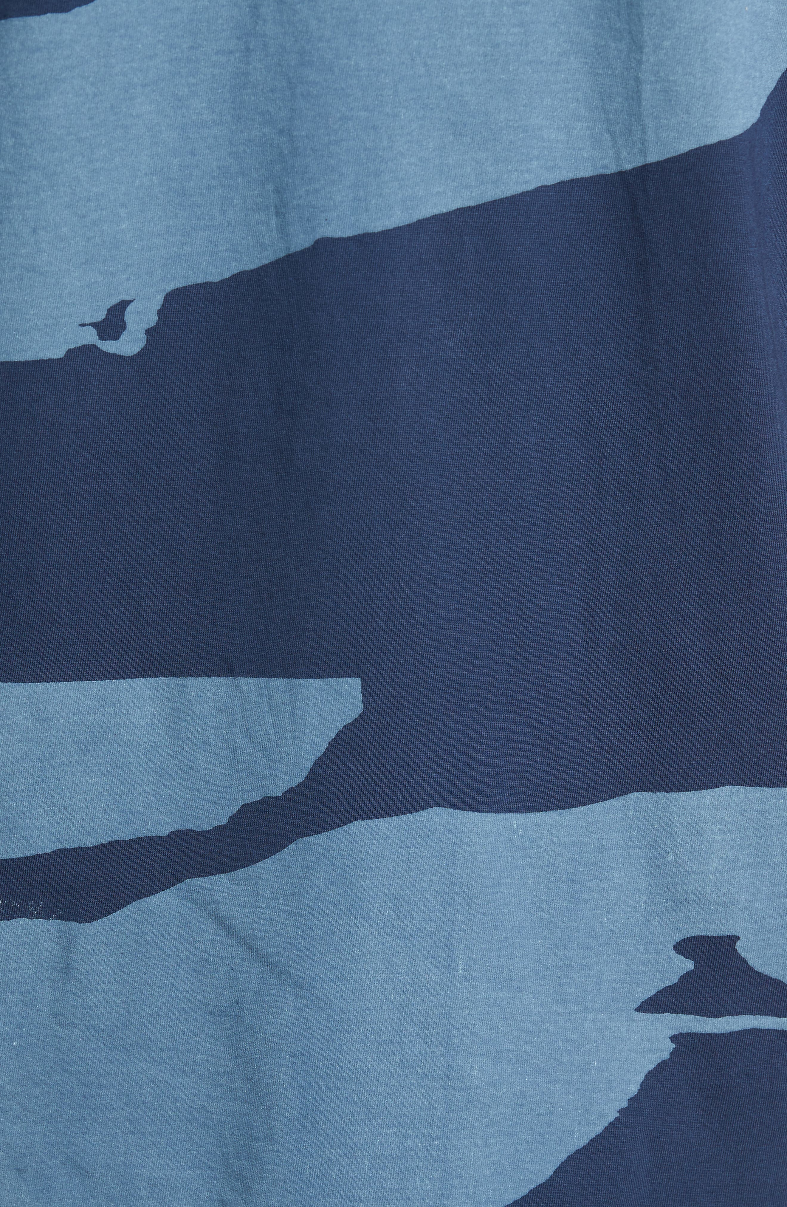 Torn Stripes T-Shirt,                             Alternate thumbnail 5, color,                             Navy