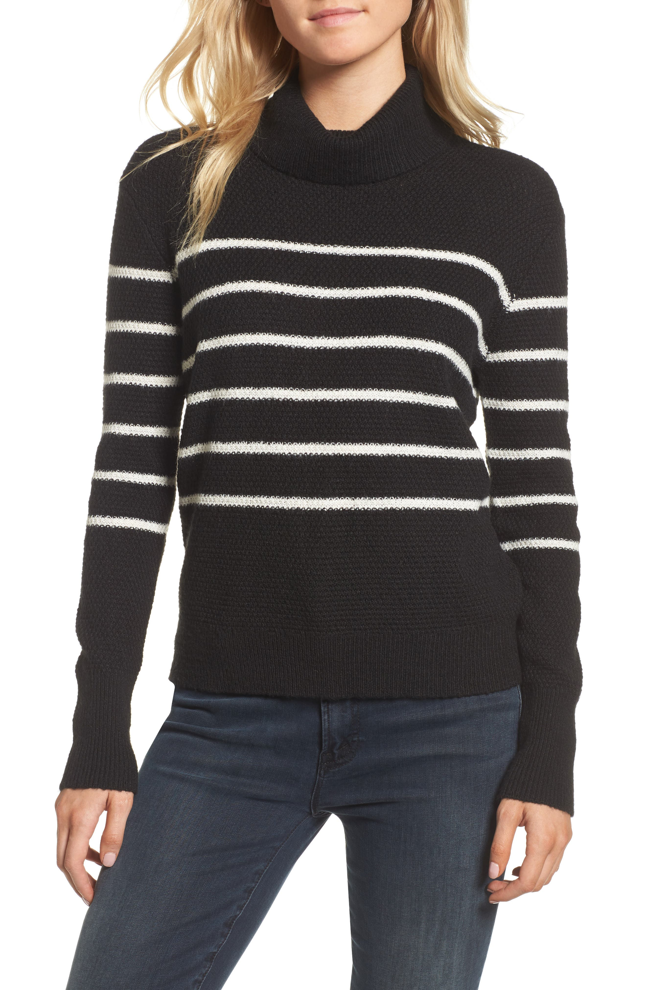 Main Image - cupcakes and cashmere Renny Turtleneck Sweater