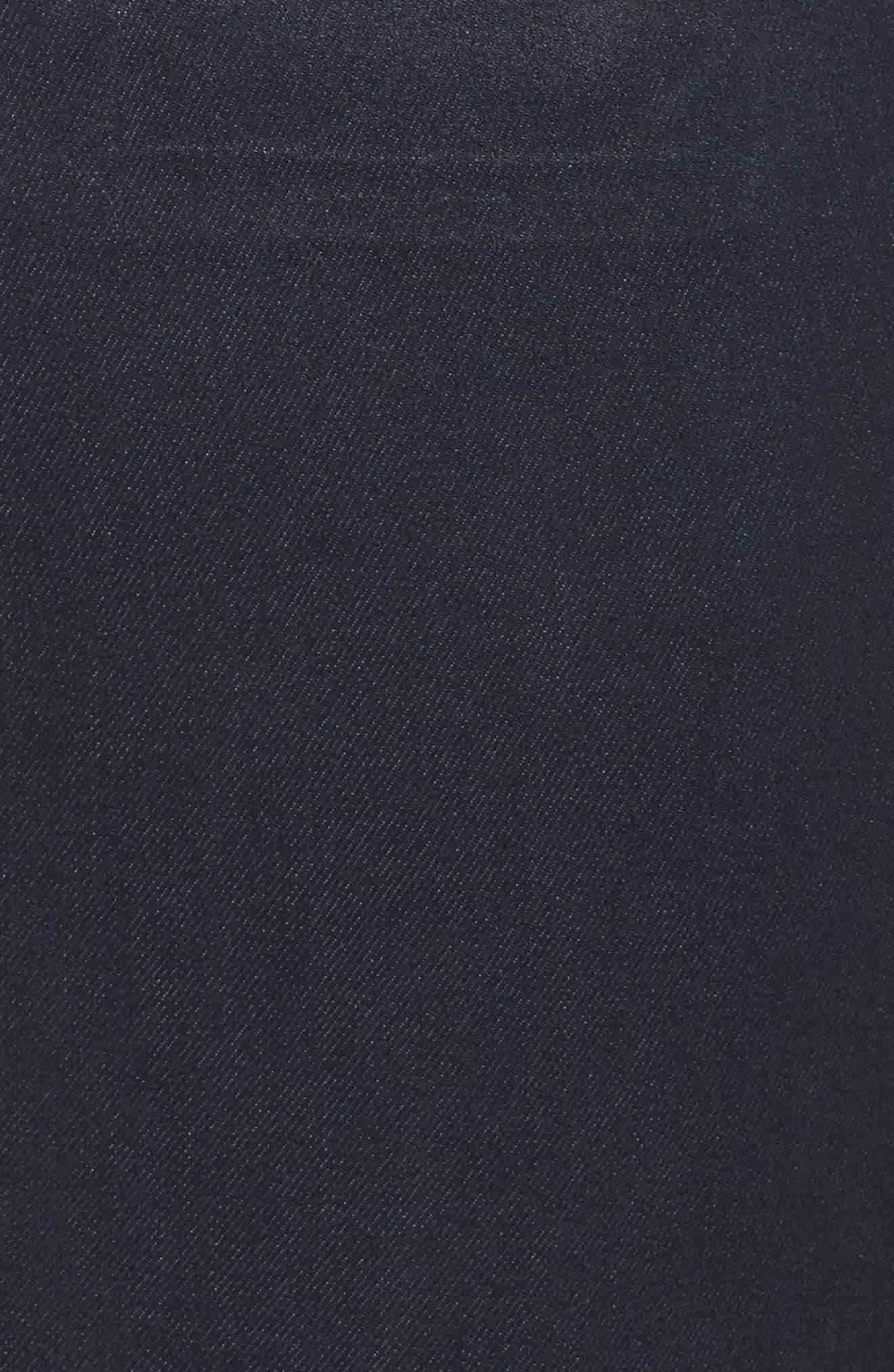 Mia Toothpick Jeans,                             Alternate thumbnail 5, color,                             Navy