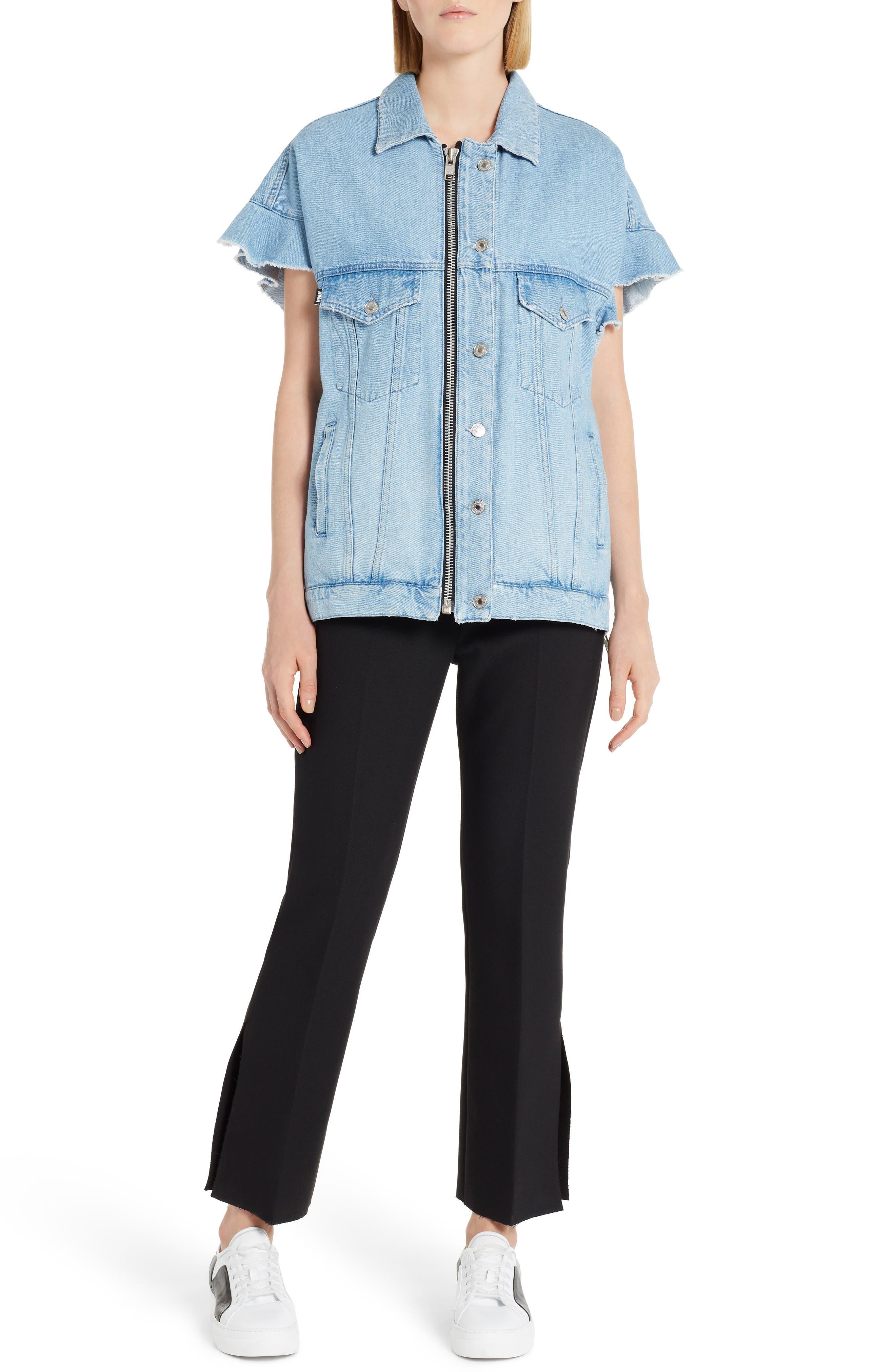 Alternate Image 5  - MSGM Zip Front Denim Jacket