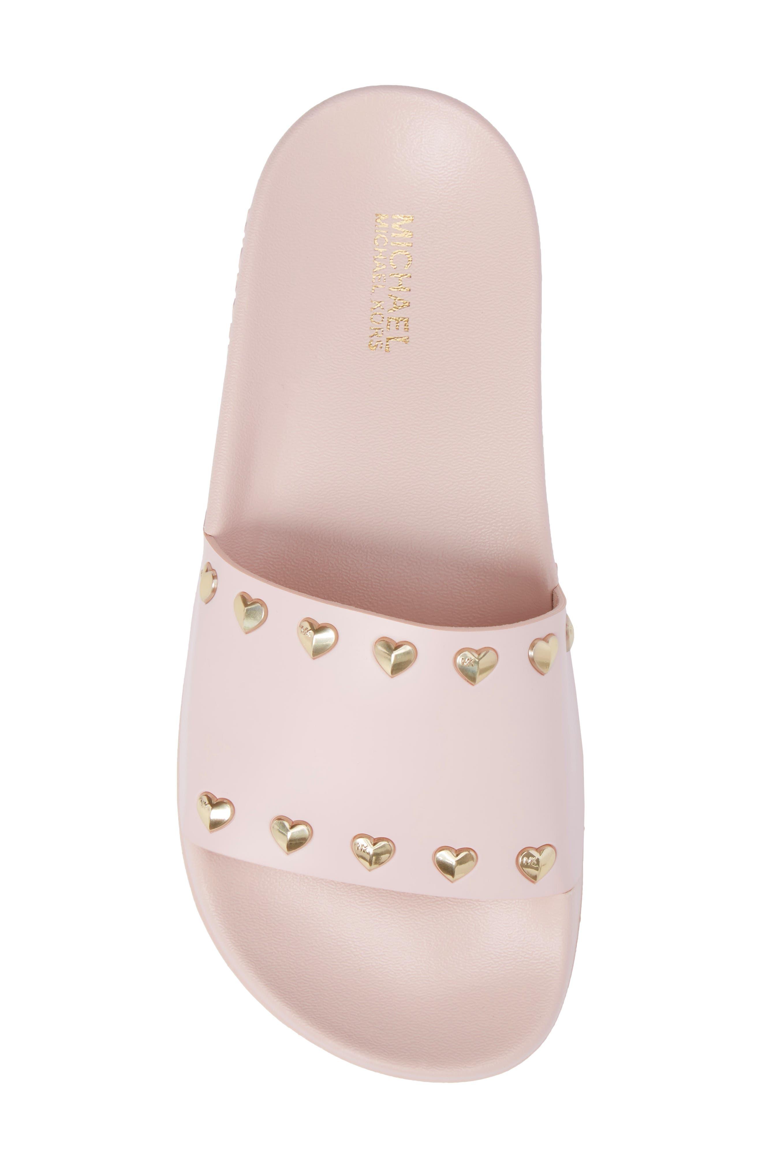 Zooey Slide Sandal,                             Alternate thumbnail 5, color,                             Soft Pink