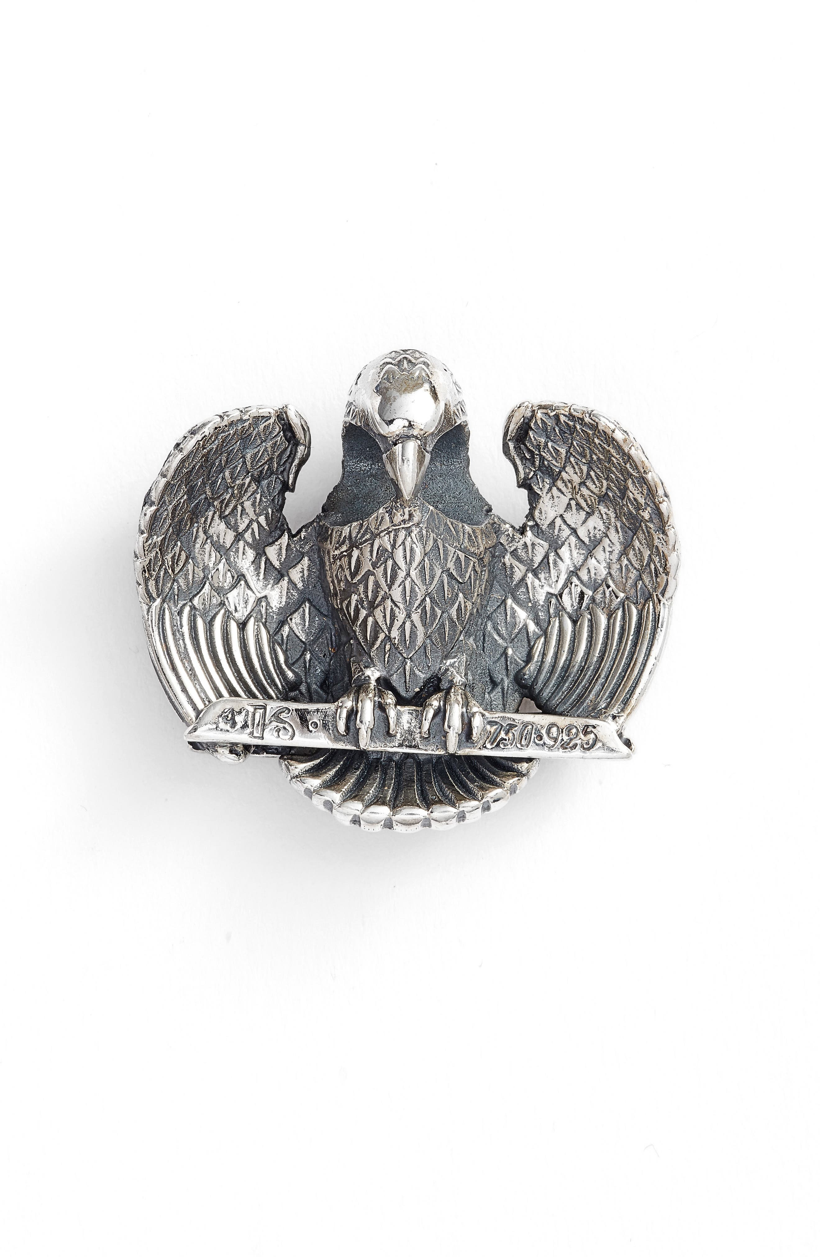 Heonos Two-Tone Eagle Pendant,                             Main thumbnail 1, color,                             Silver/ Gold
