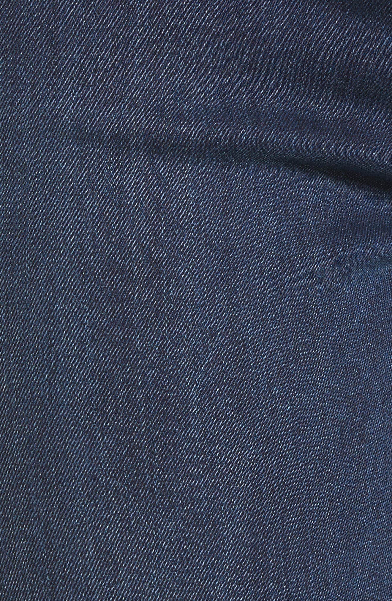 Halle Super Skinny Jeans,                             Alternate thumbnail 6, color,                             Deep Sea Blue