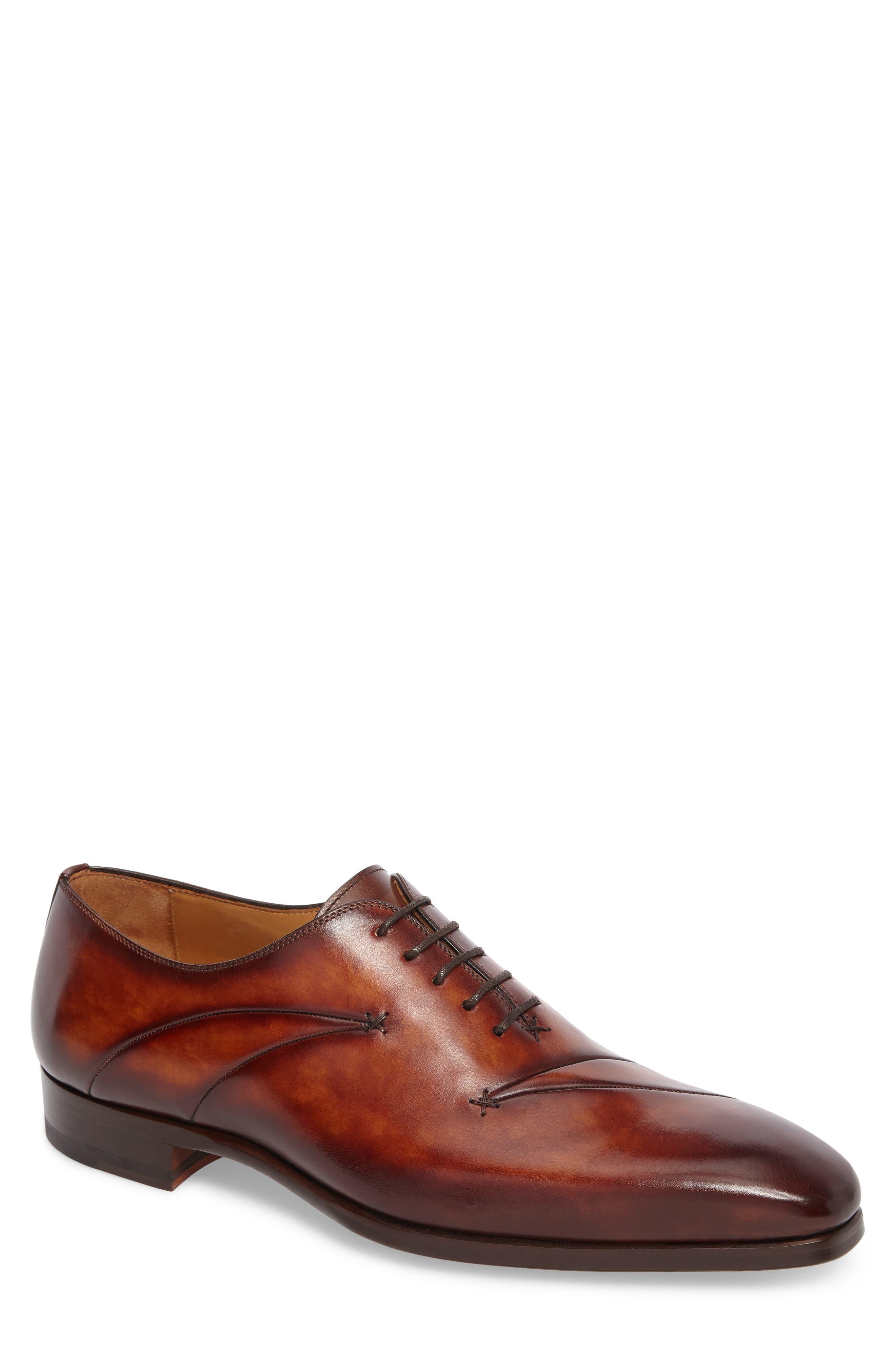Marquez Stitched Oxford,                             Main thumbnail 1, color,                             Cognac Leather
