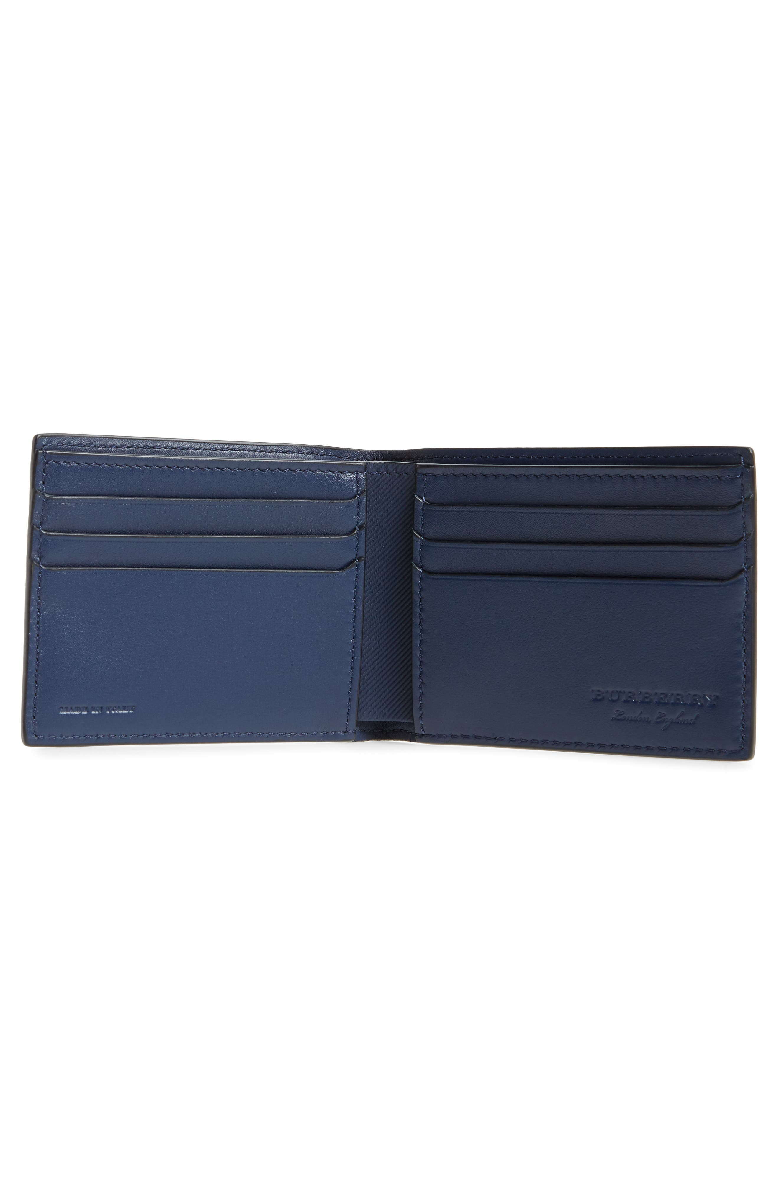 Trench Leather Wallet,                             Alternate thumbnail 2, color,                             Ink Blue