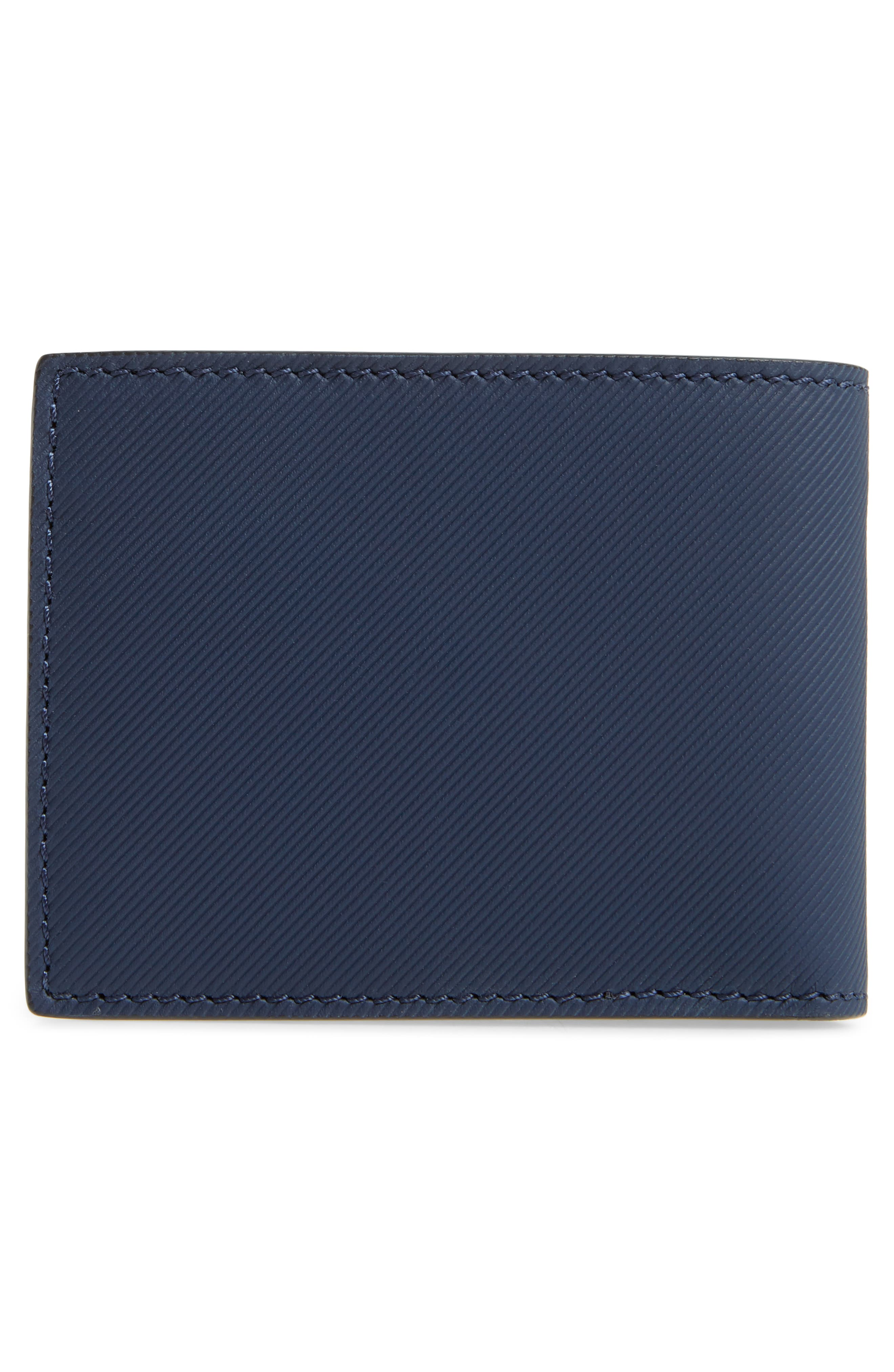 Trench Leather Wallet,                             Alternate thumbnail 3, color,                             Ink Blue