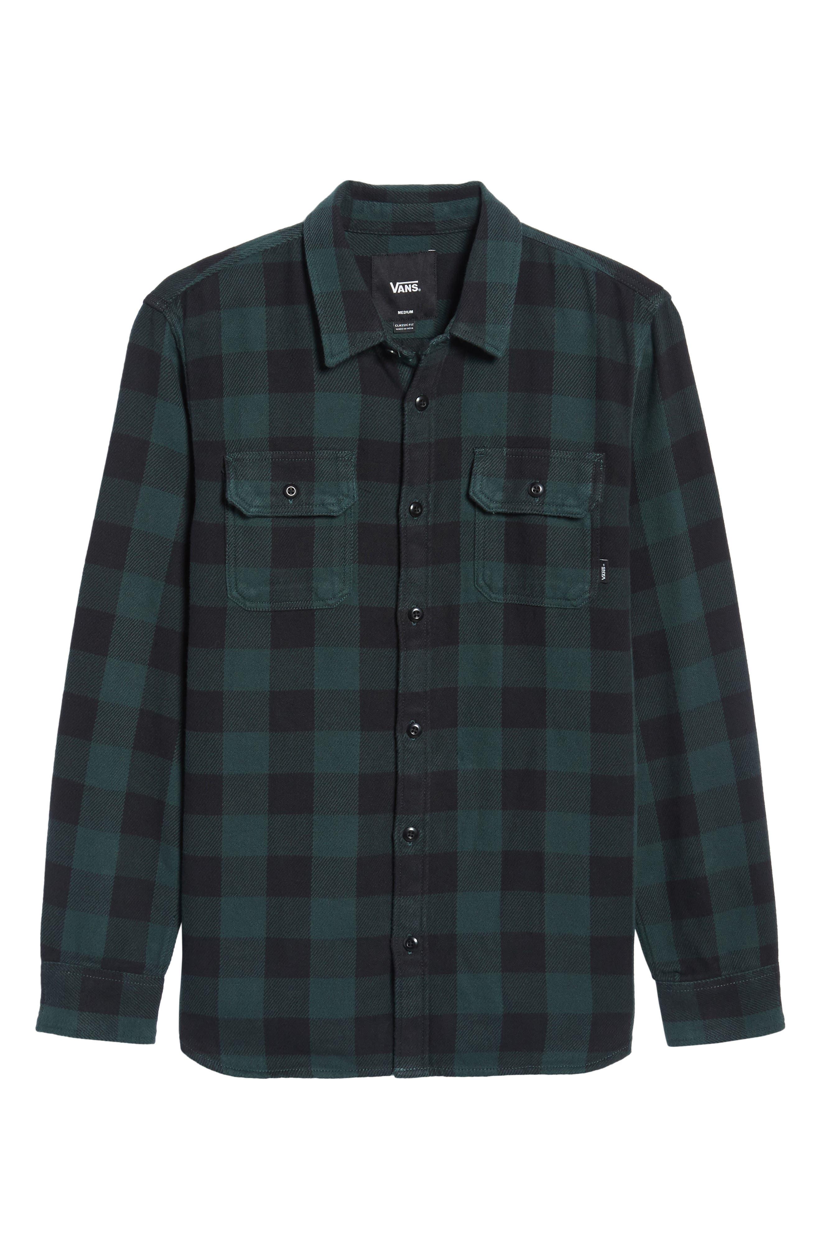 Wisner Plaid Shirt,                             Alternate thumbnail 6, color,                             Vans Scarab