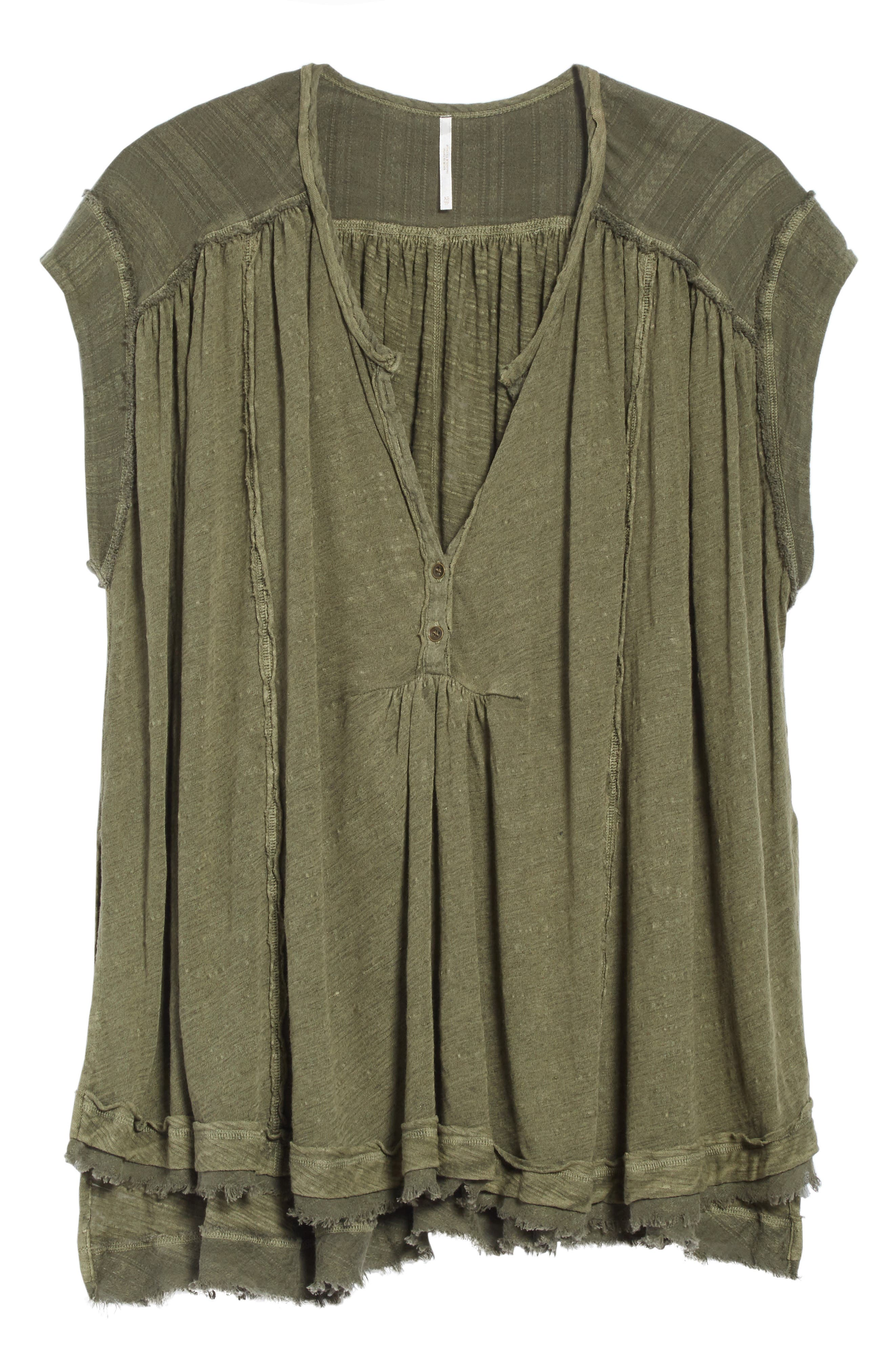 Aster Henley Top,                             Alternate thumbnail 6, color,                             Army