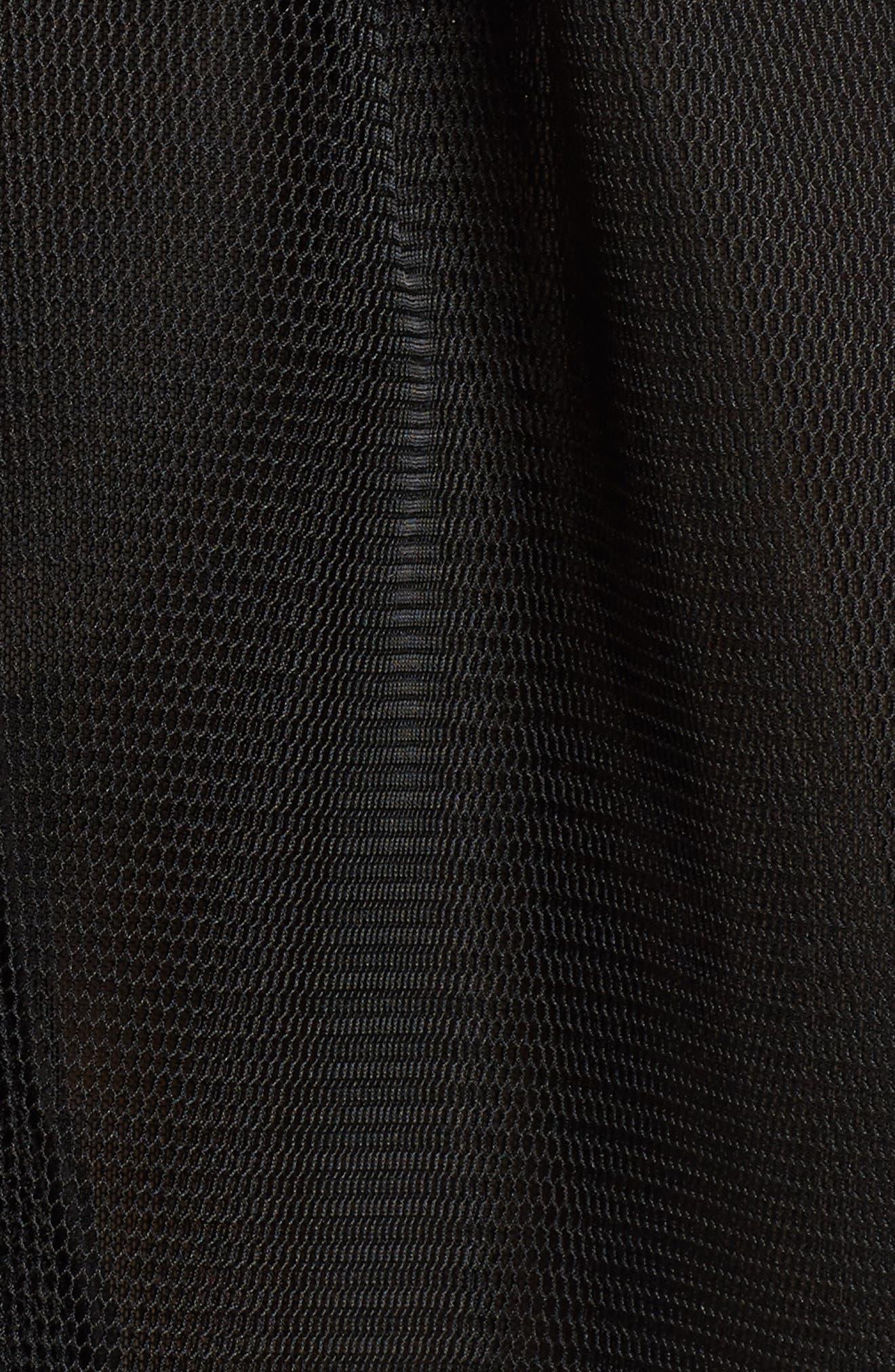Jewel Fit & Flare Dress,                             Alternate thumbnail 5, color,                             Black