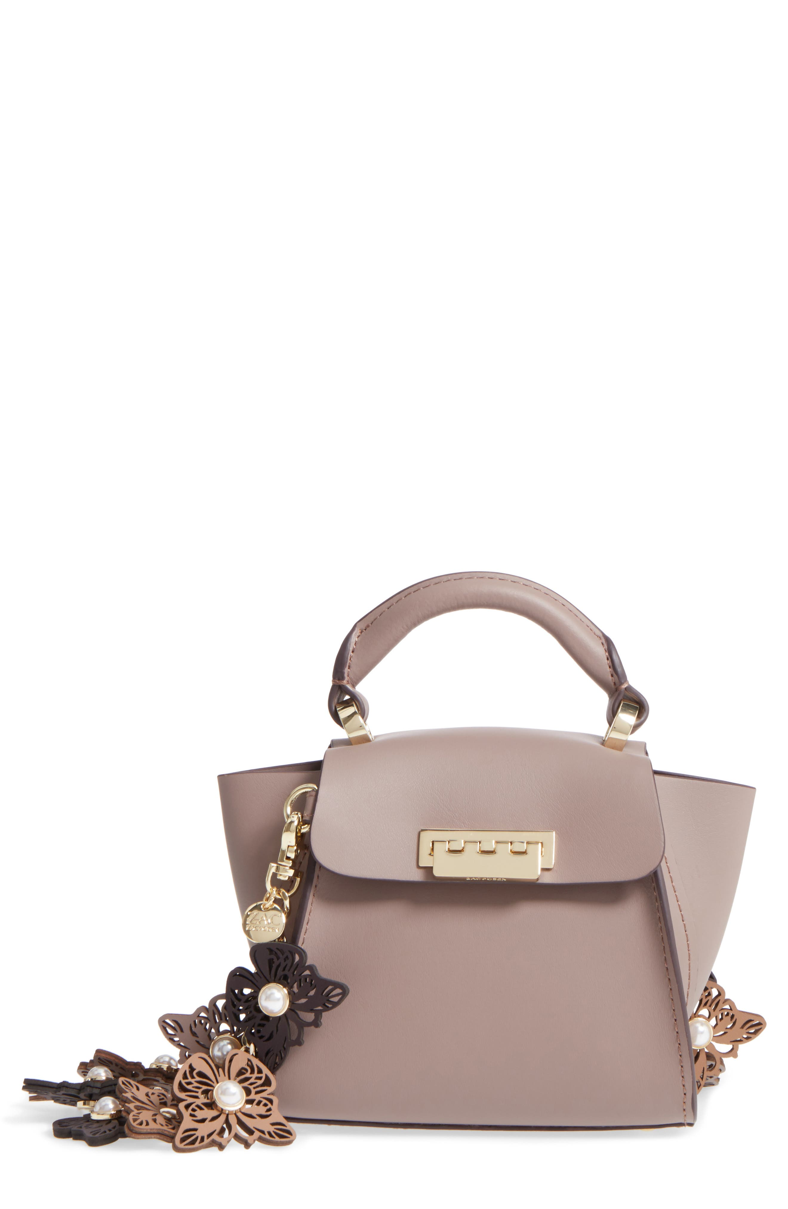 ZAC Zac Posen Eartha Iconic Calfskin Leather Satchel with Novelty Strap