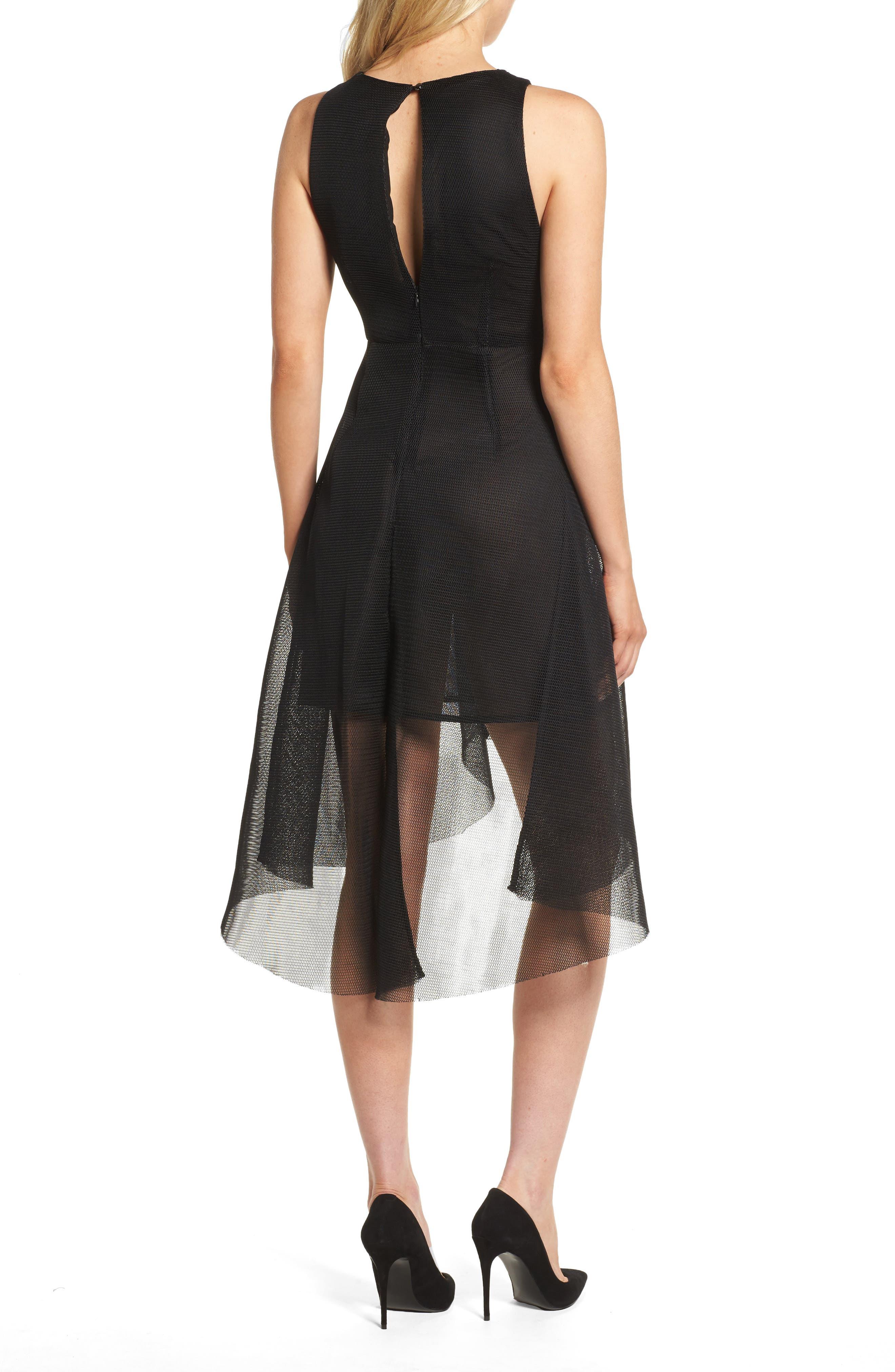 Jewel Fit & Flare Dress,                             Alternate thumbnail 2, color,                             Black