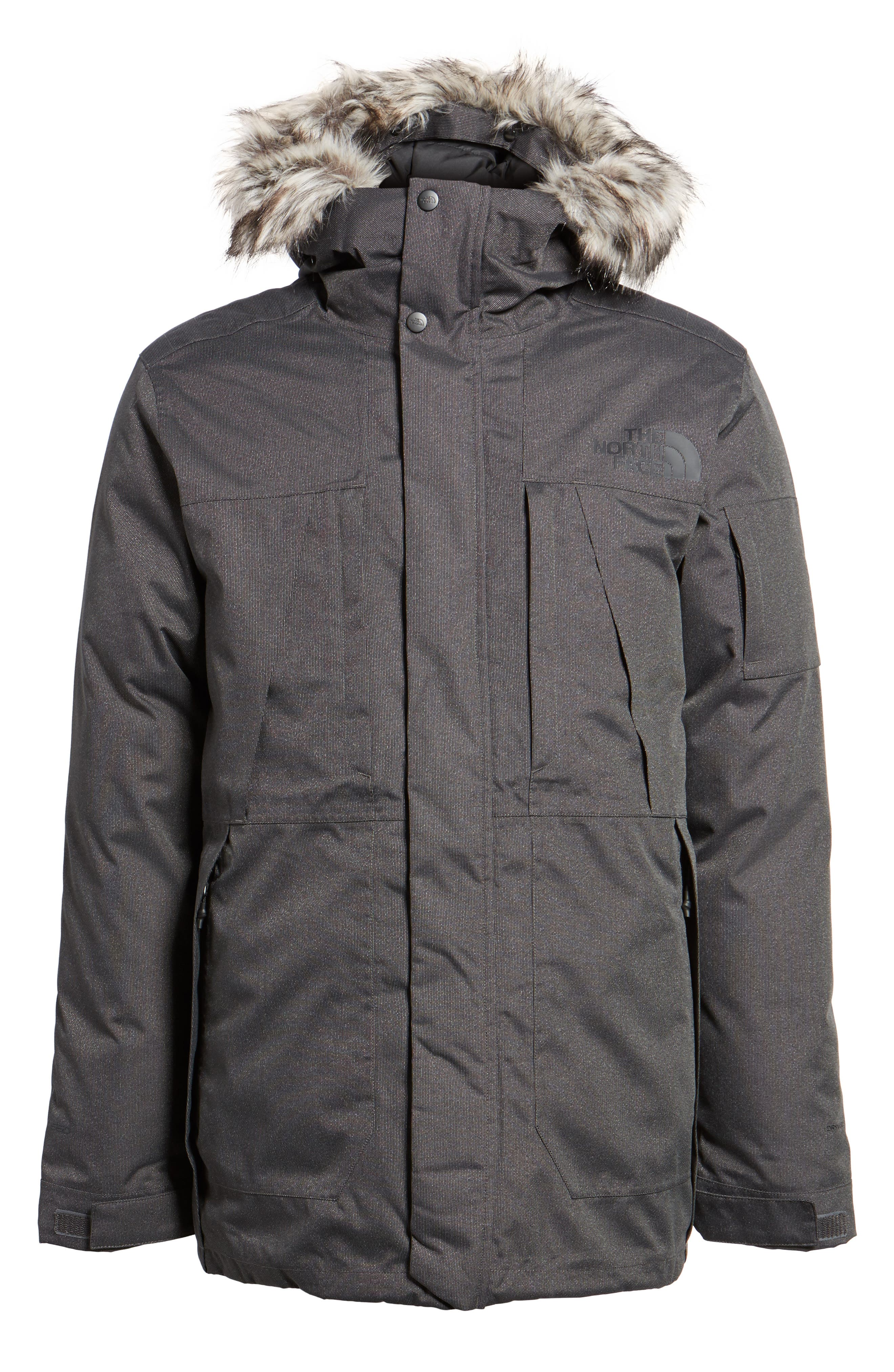 Outer Boroughs Waterproof Parka,                         Main,                         color, Tnf Dark Grey Heather