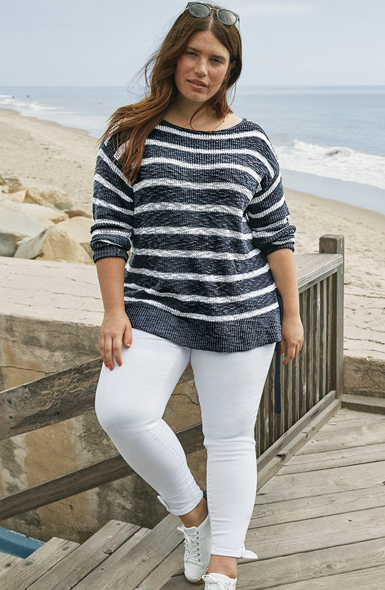 Alternate Image 7  - Caslon® Tunic Sweater with Side Ties (Plus Size)
