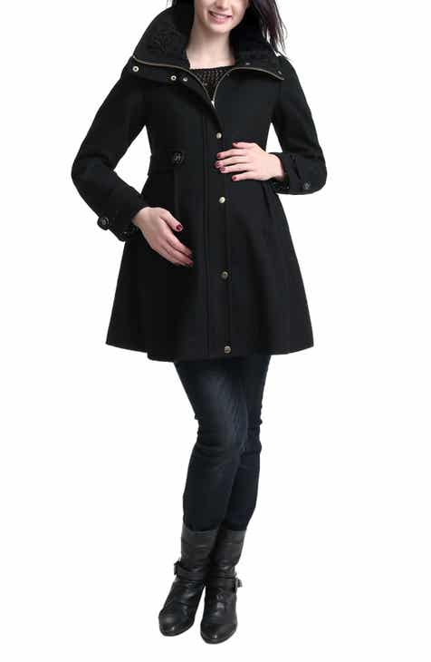 Kimi and Kai Olivia Wool Blend Maternity Coat by Kimi and Kai