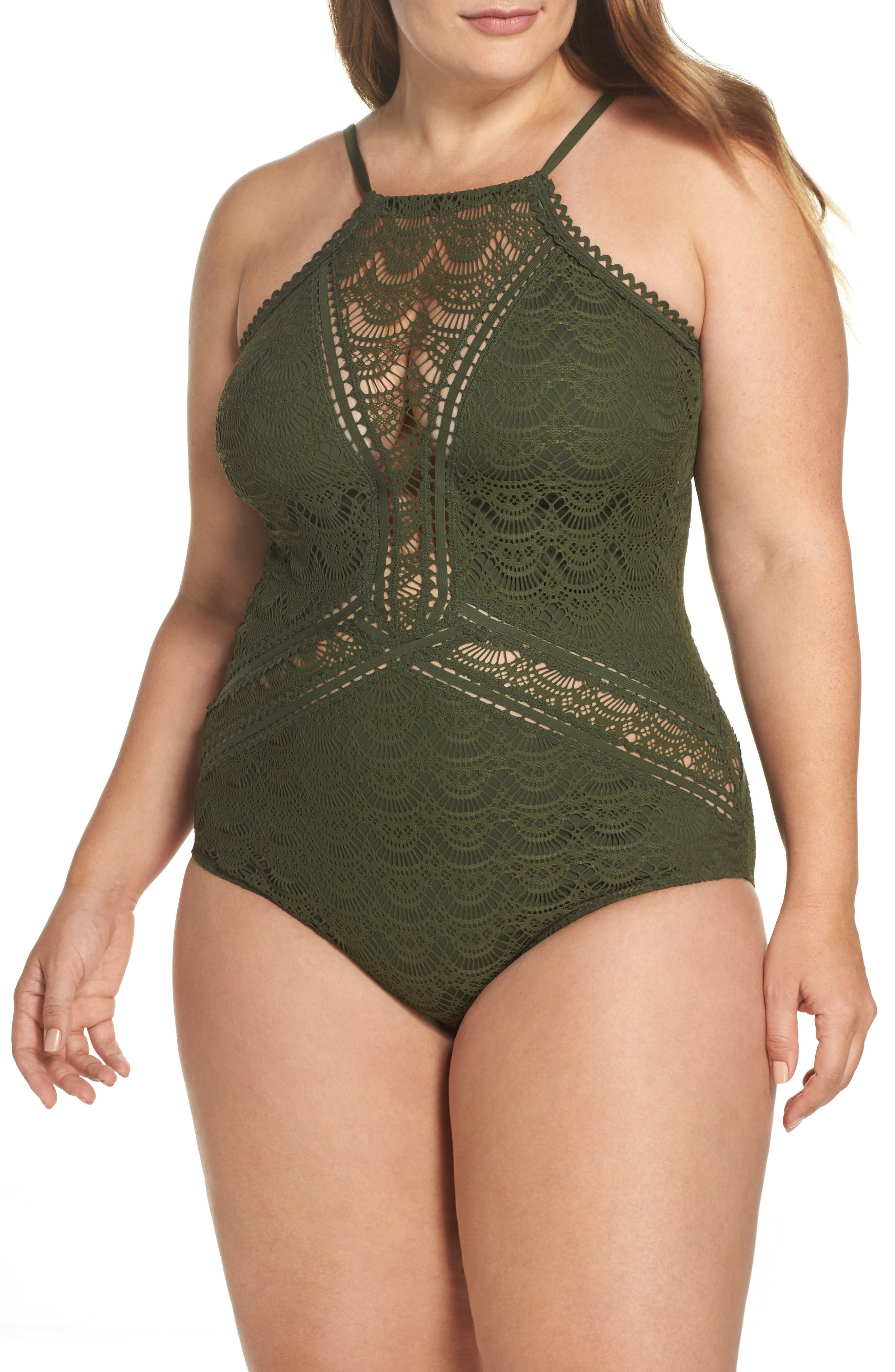 Becca Etc. One-Piece Swimsuit (Plus Size)