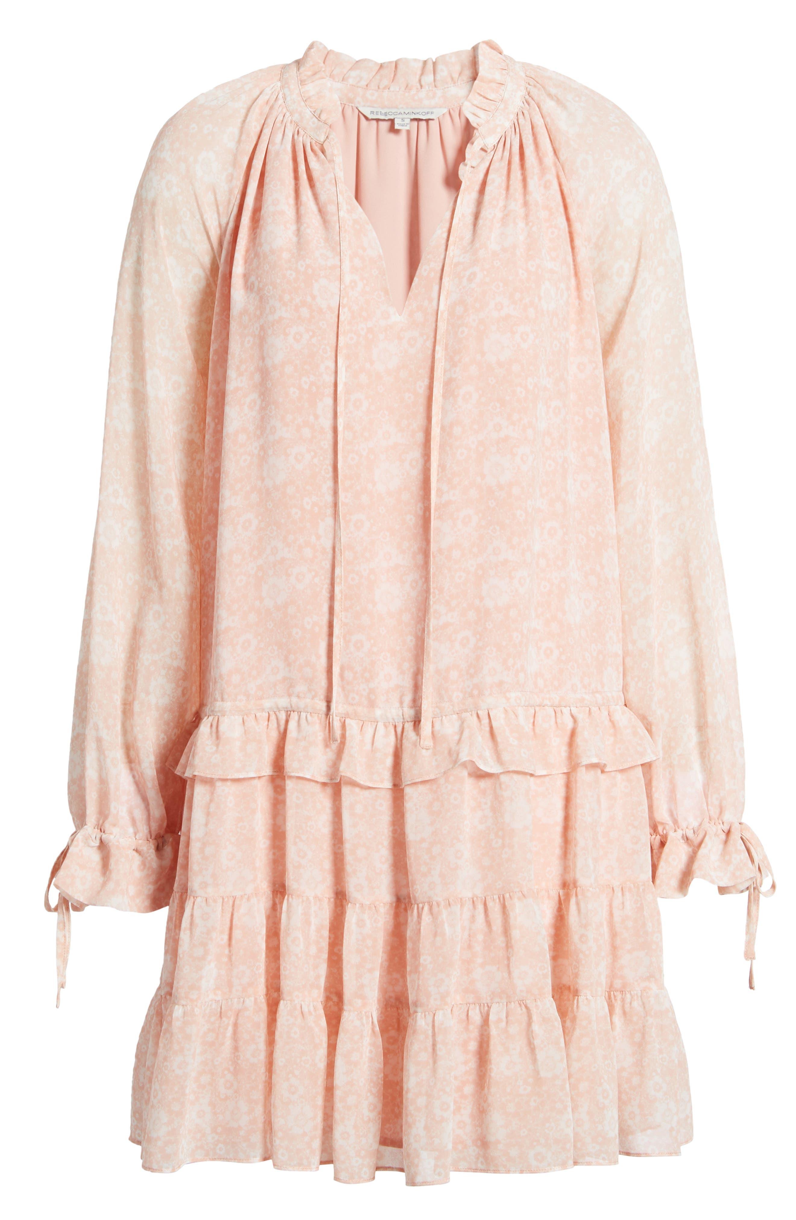 Dylan Drop Waist Dress,                             Alternate thumbnail 6, color,                             Light Pink Multi