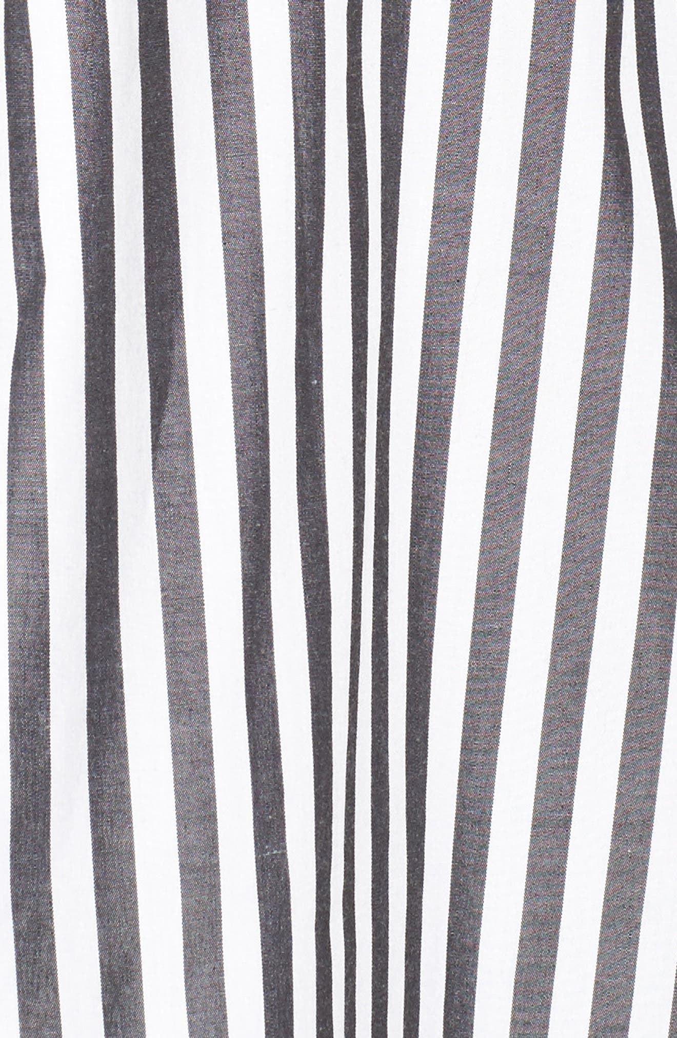 Abigail Stripe Top,                             Alternate thumbnail 5, color,                             Black/ White