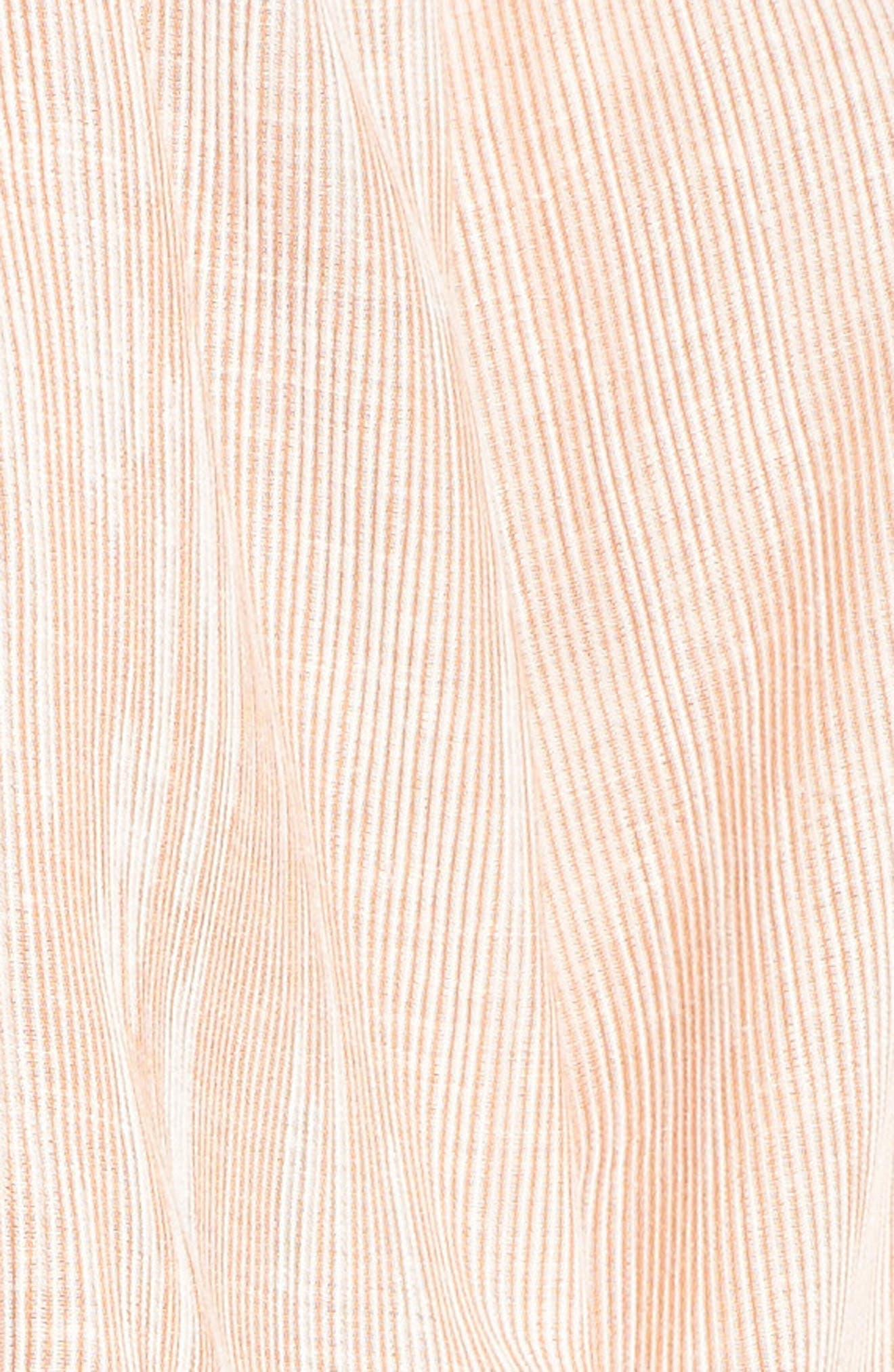 Tallulah Off the Shoulder Blouse,                             Alternate thumbnail 5, color,                             Burnt Umber/ White