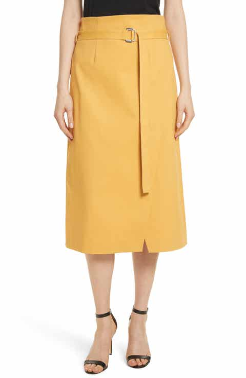 Robert Rodriguez Belted Midi Skirt
