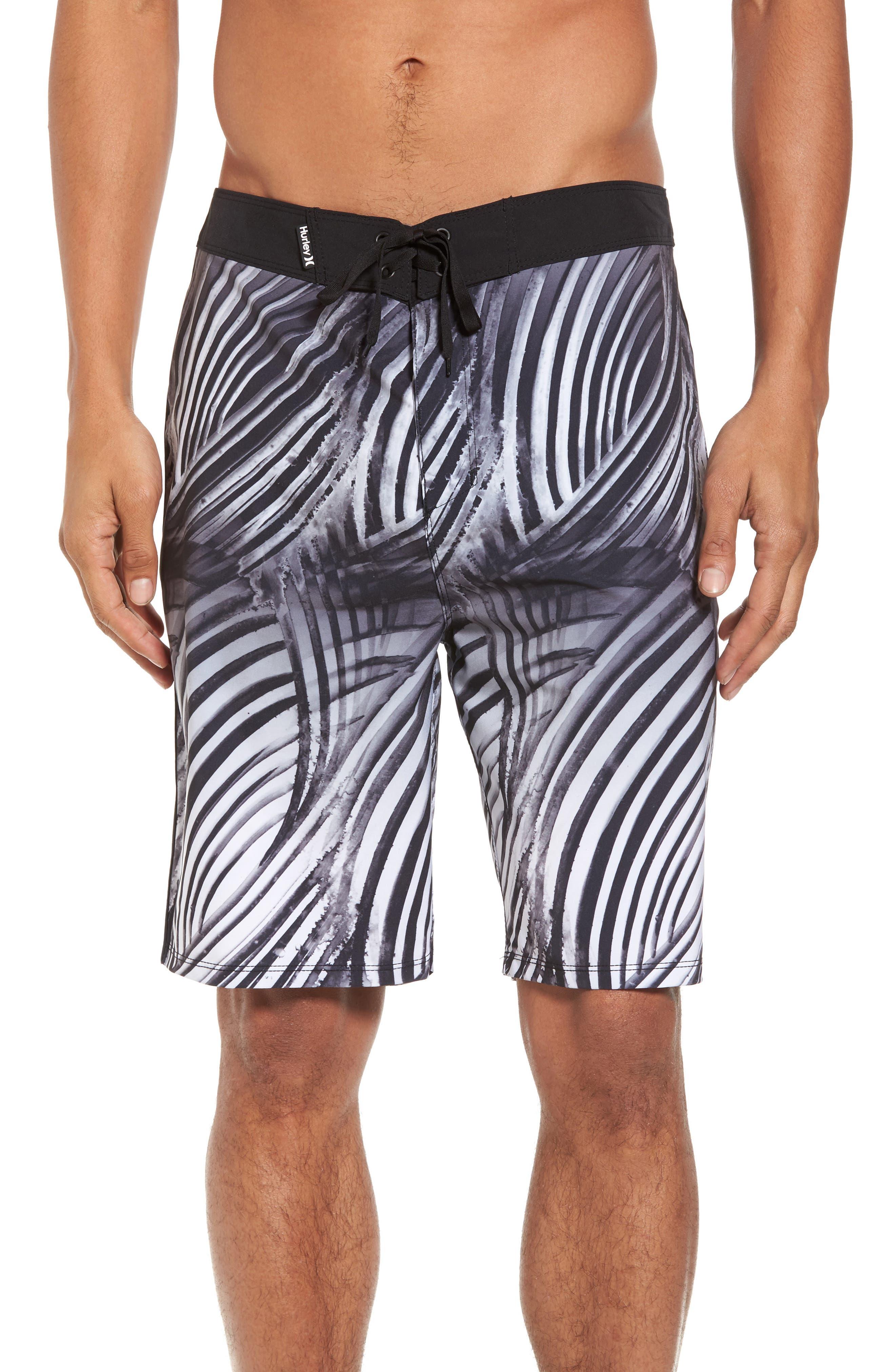 Phantom Crest Board Shorts,                             Main thumbnail 1, color,                             Black
