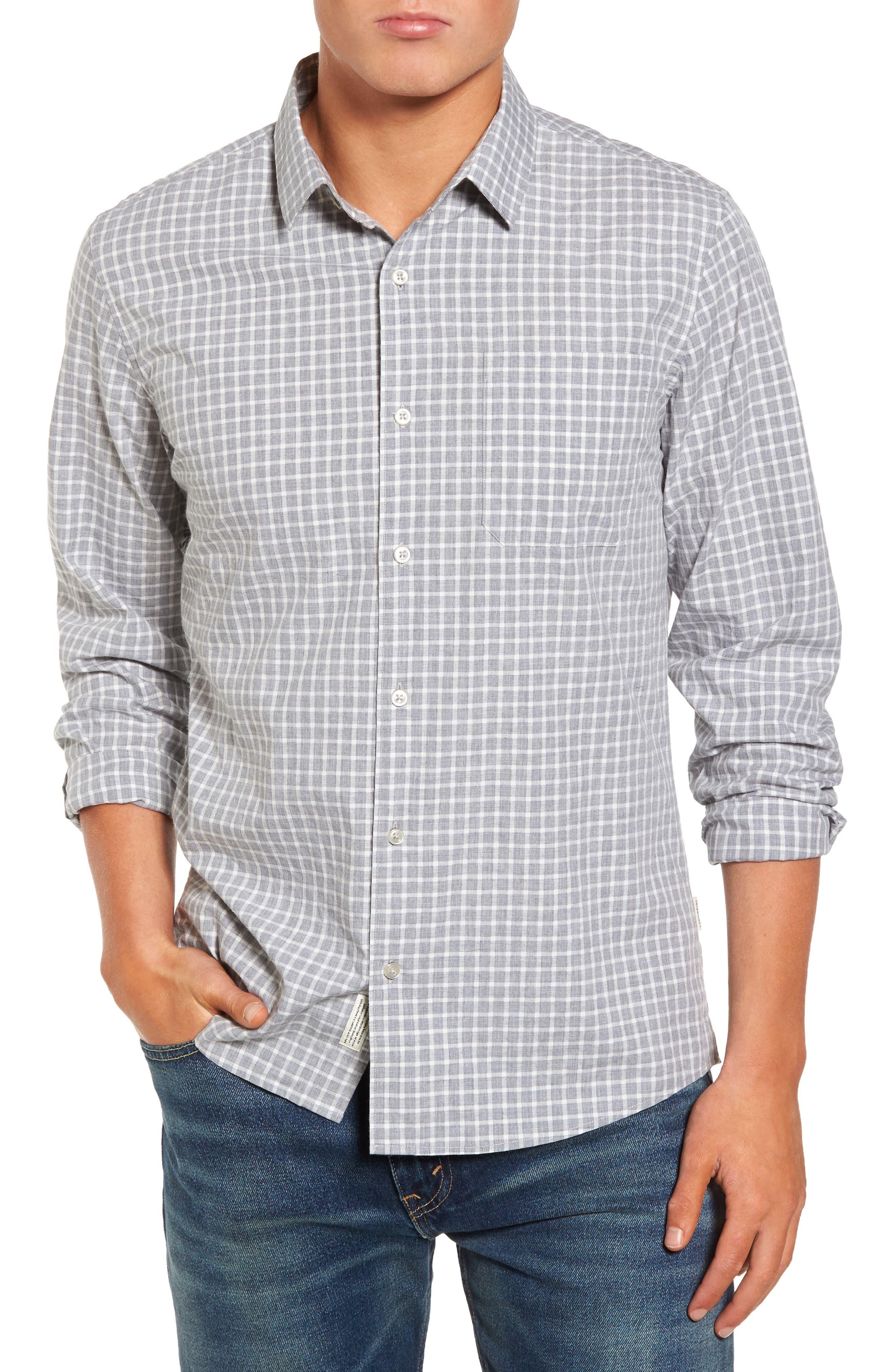 Illusions Woven Shirt,                         Main,                         color, Lt. Grey