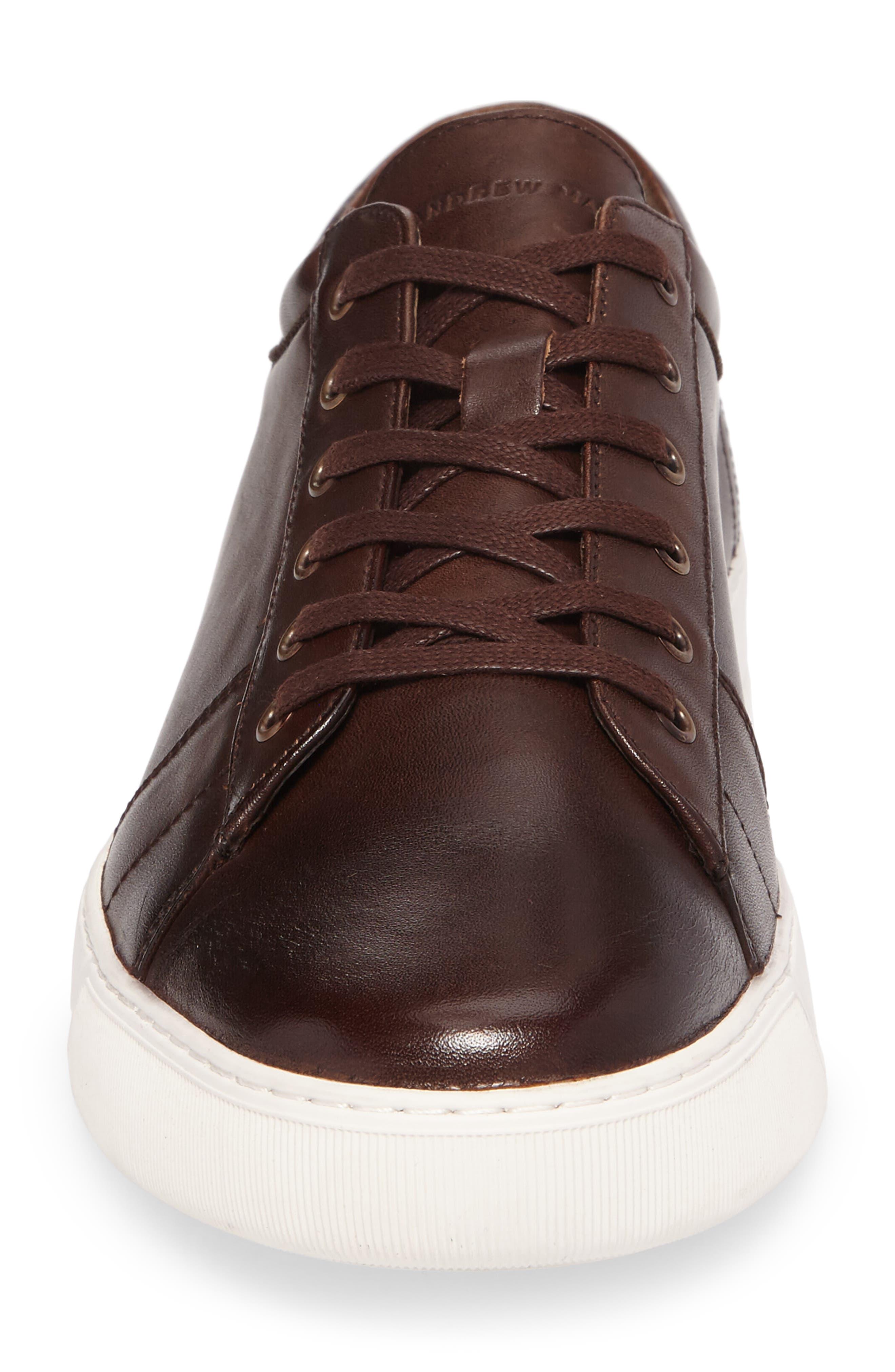 'Darwood' Sneaker,                             Alternate thumbnail 5, color,                             Dark Brown/ White Leather