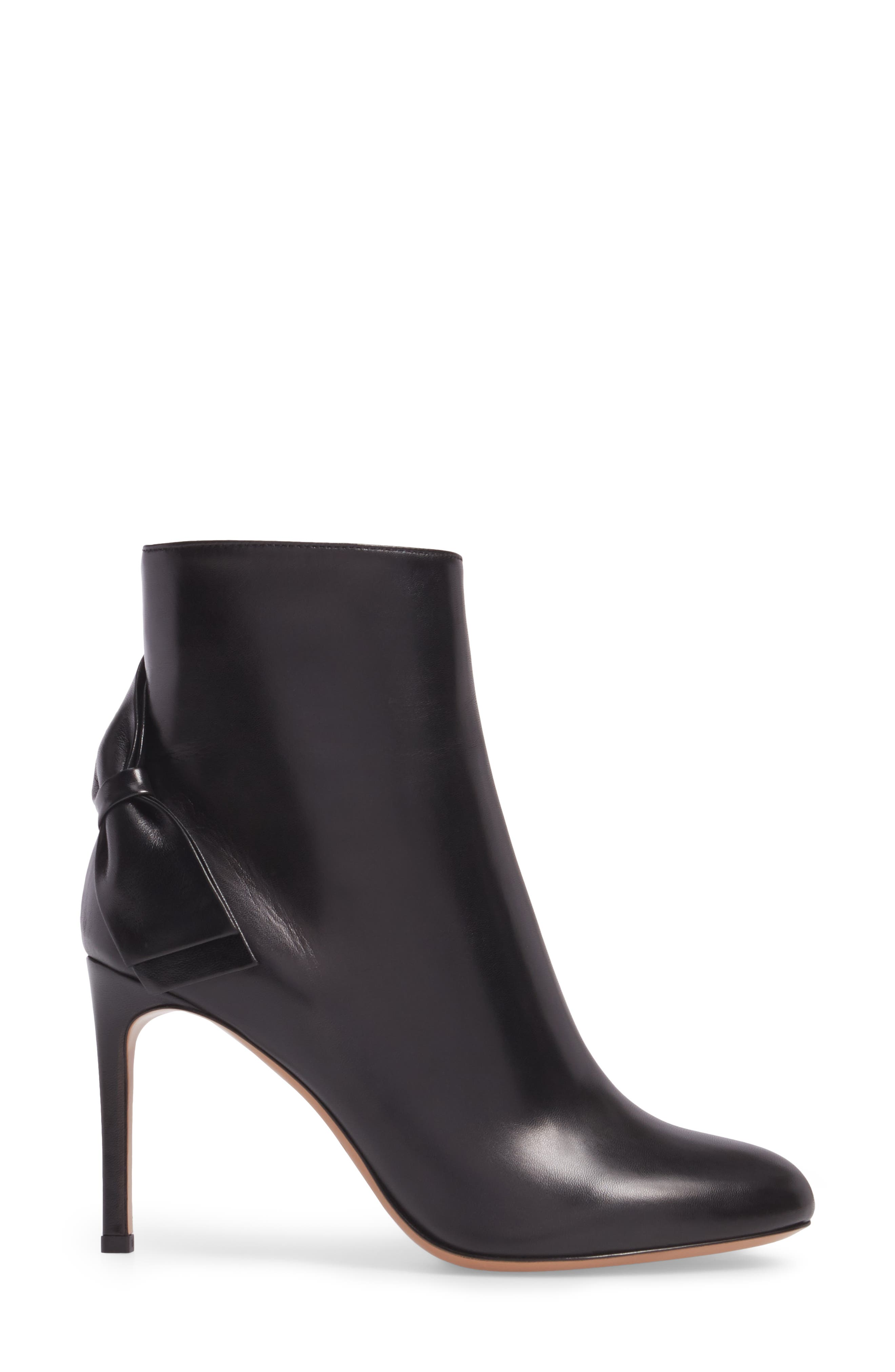 GARAVANI Pretty Bow Bootie,                             Alternate thumbnail 3, color,                             Black Leather
