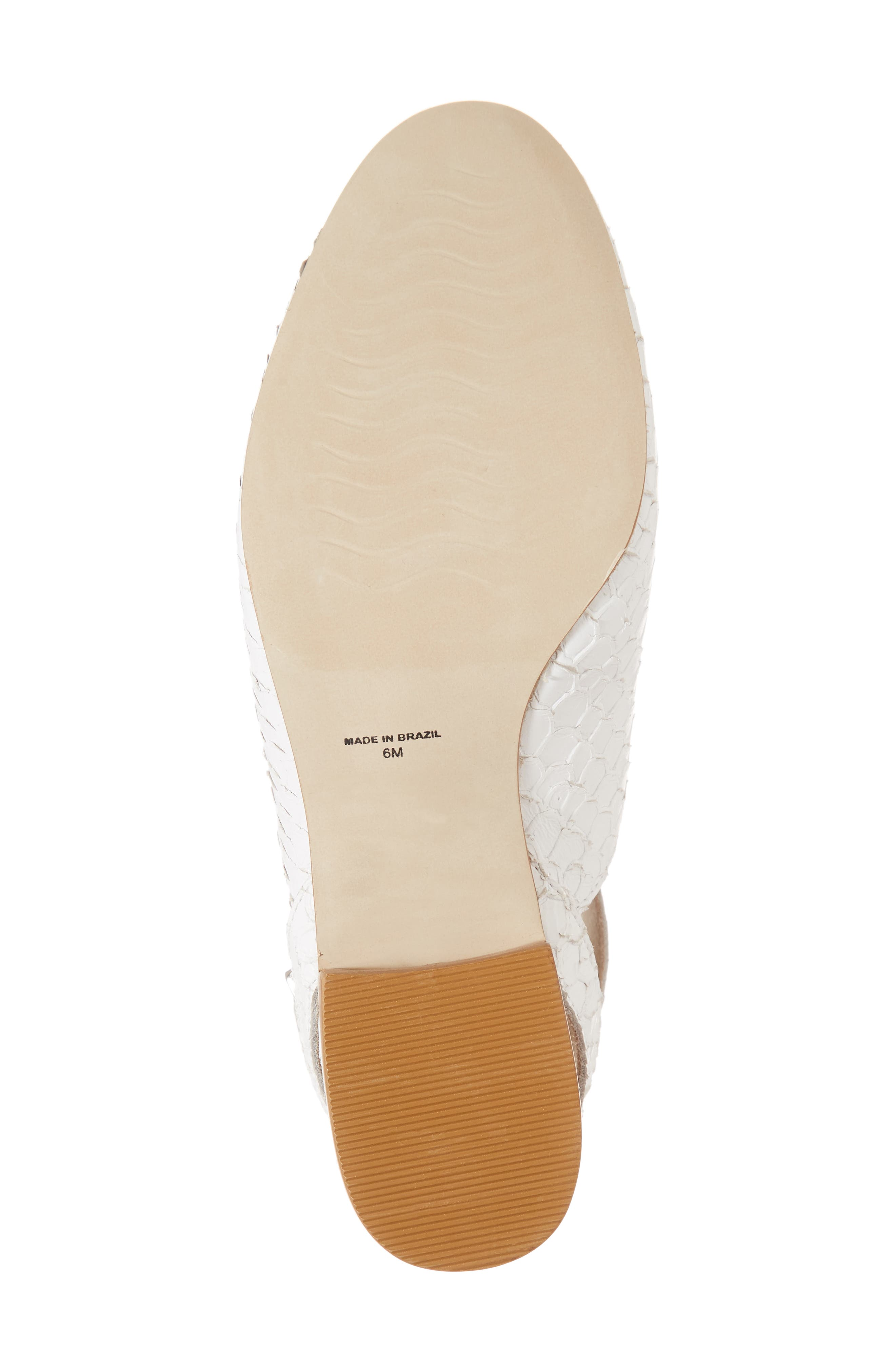 Half Moon Ankle Strap Loafer,                             Alternate thumbnail 6, color,                             White Leather