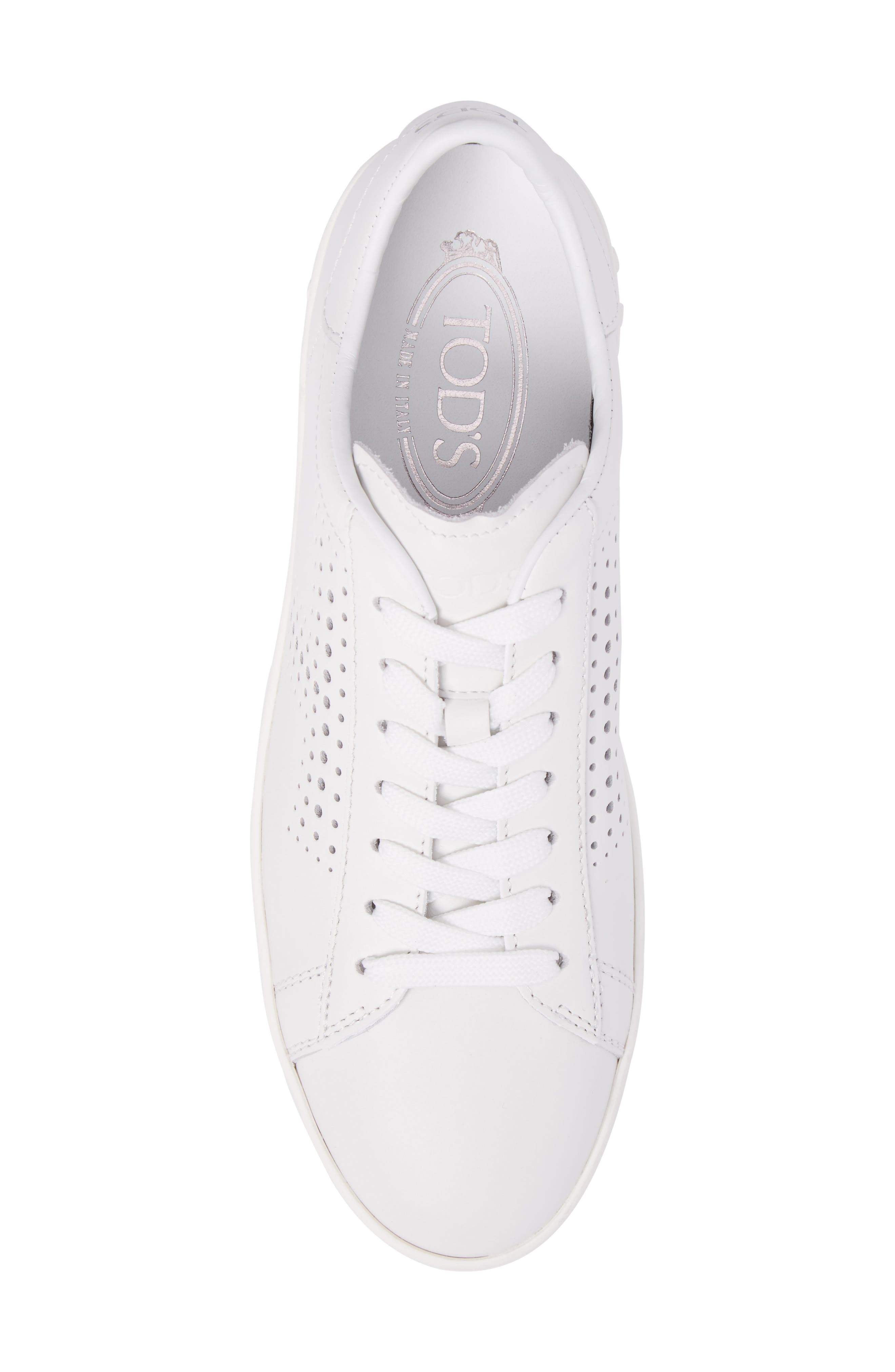 Perforated T Sneaker,                             Alternate thumbnail 5, color,                             White
