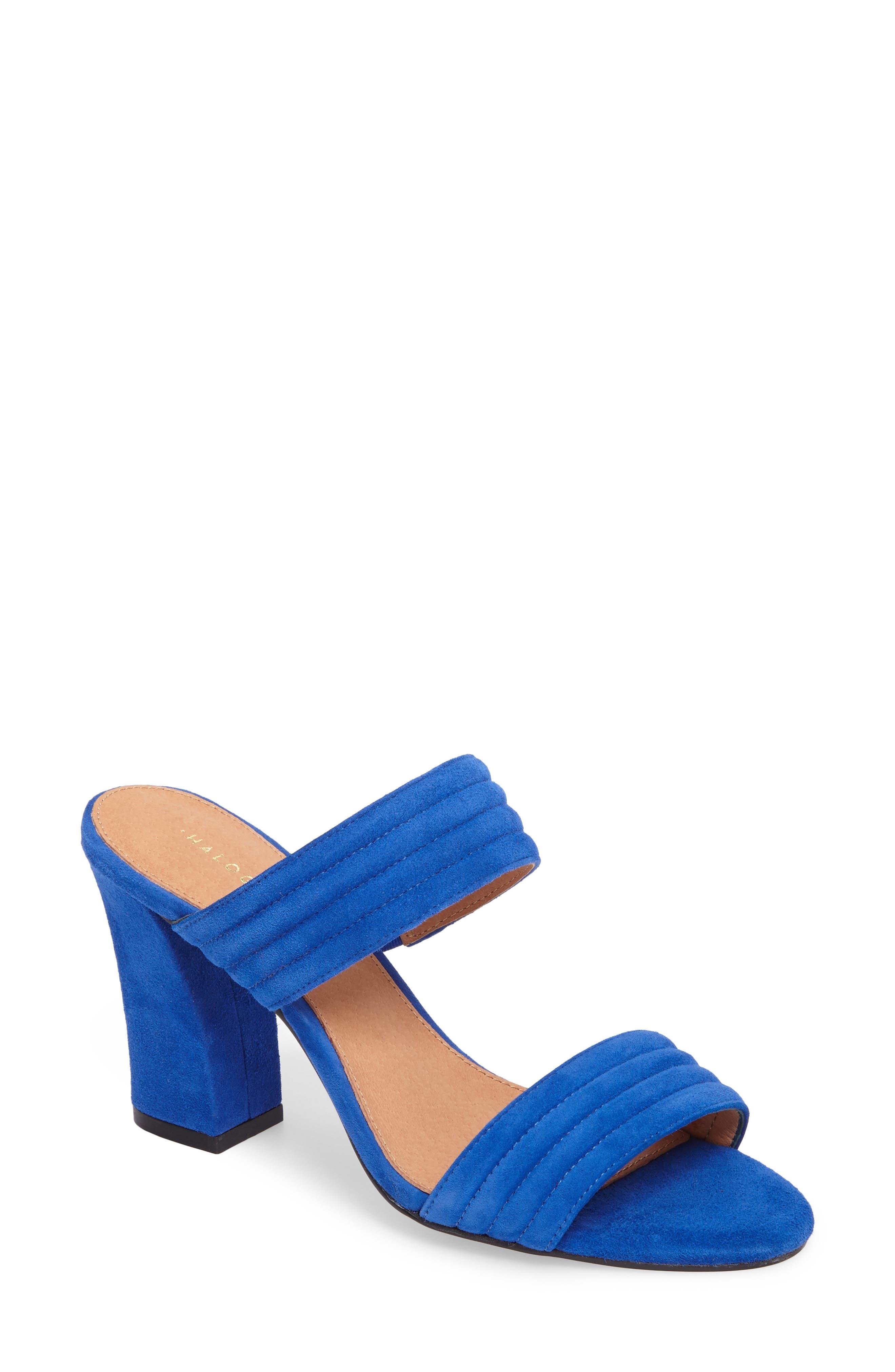 Della Slide Sandal,                             Main thumbnail 1, color,                             Cobalt Suede