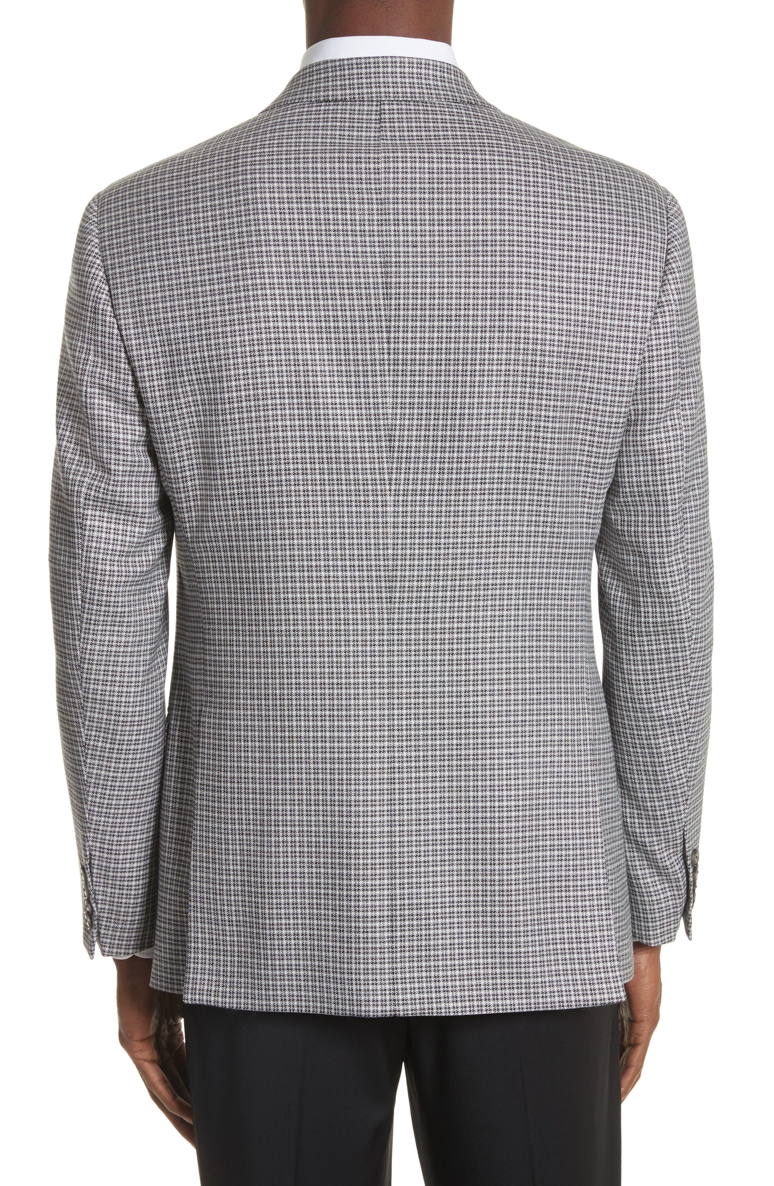 G Line Trim Fit Check Sport Coat,                             Alternate thumbnail 2, color,                             Grey