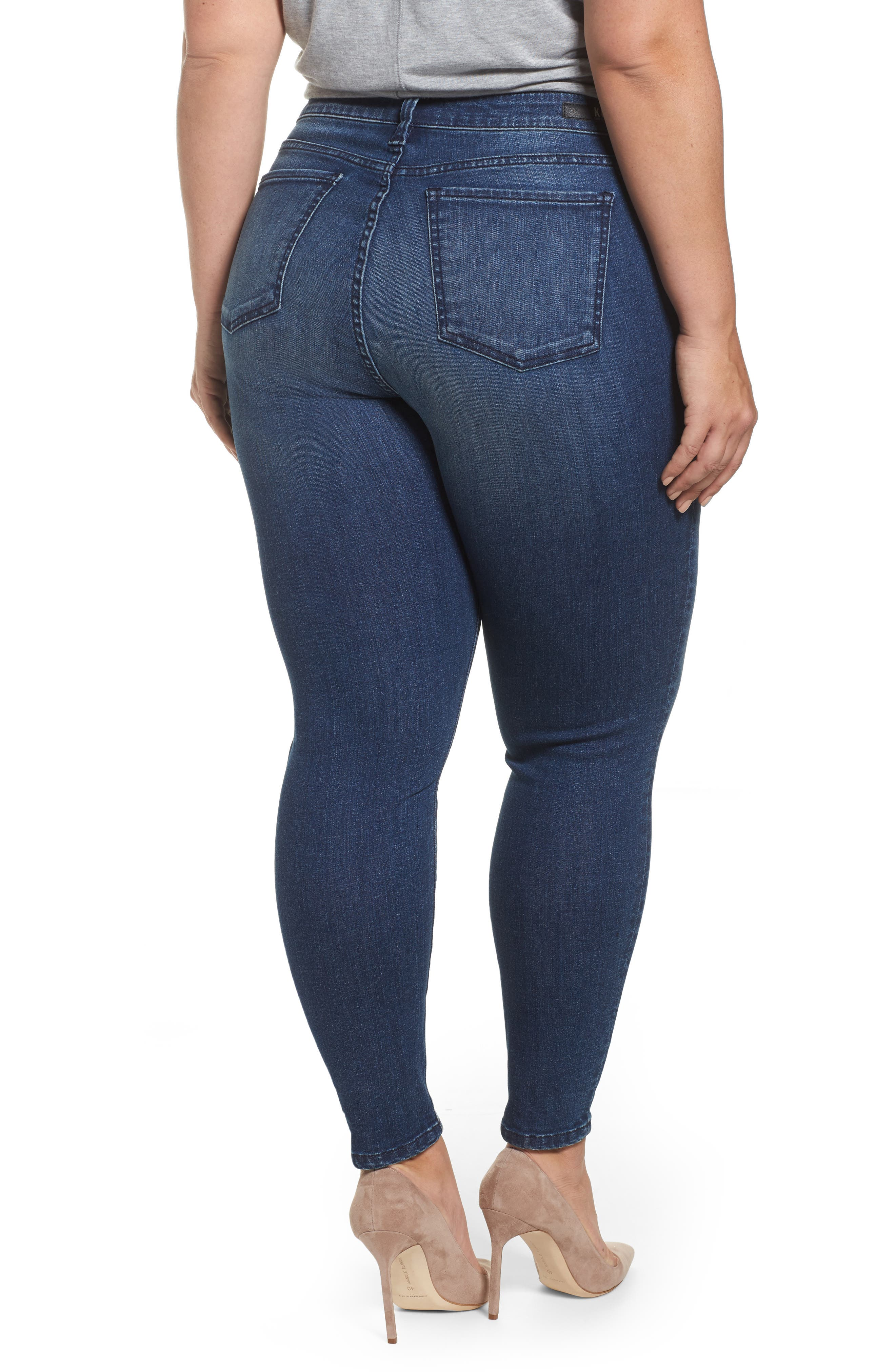 Donna Skinny Ankle Jeans,                             Alternate thumbnail 2, color,                             Cheered