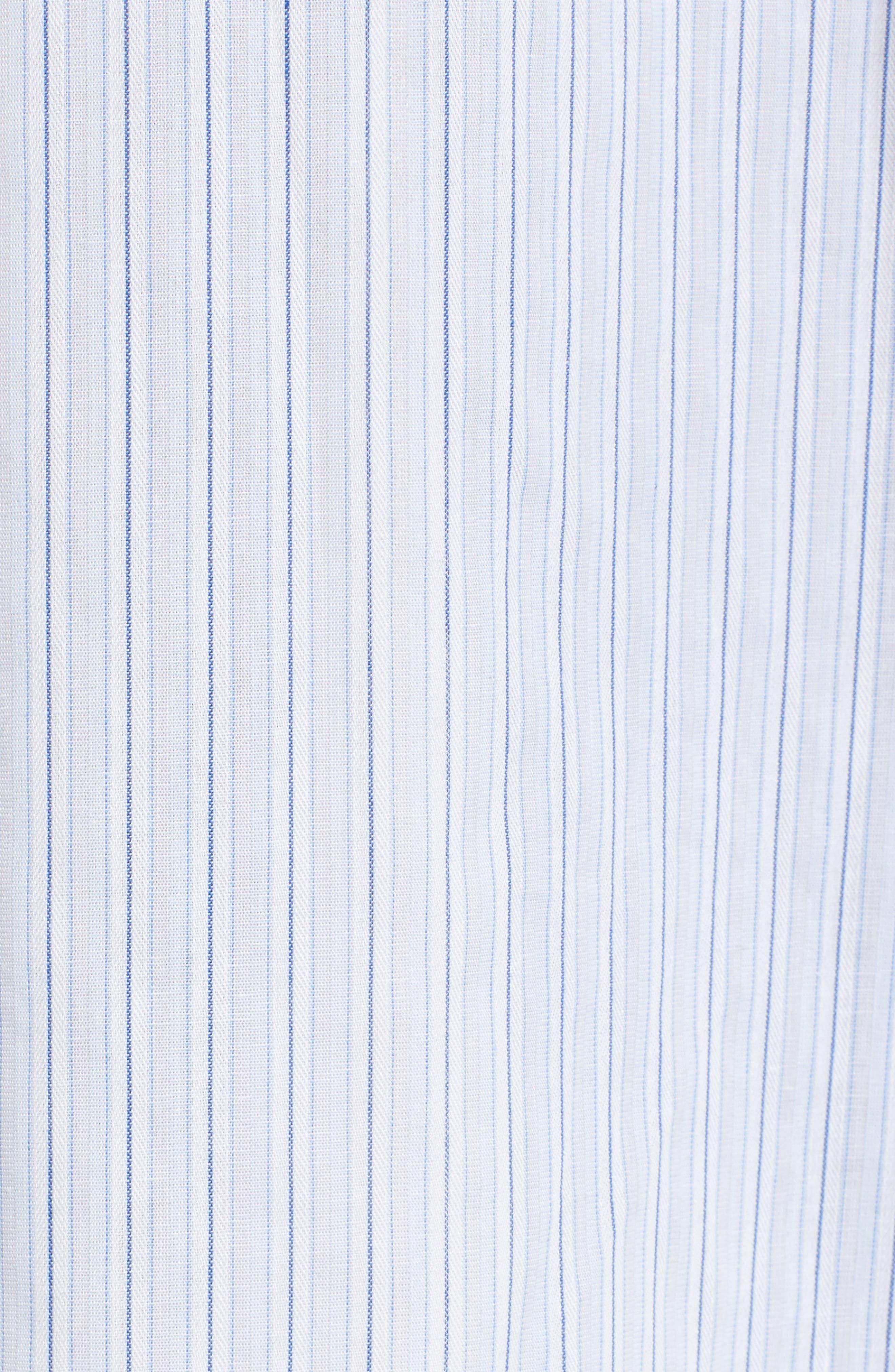 Poplin Wrap Tunic,                             Alternate thumbnail 6, color,                             Blue-White Stripe