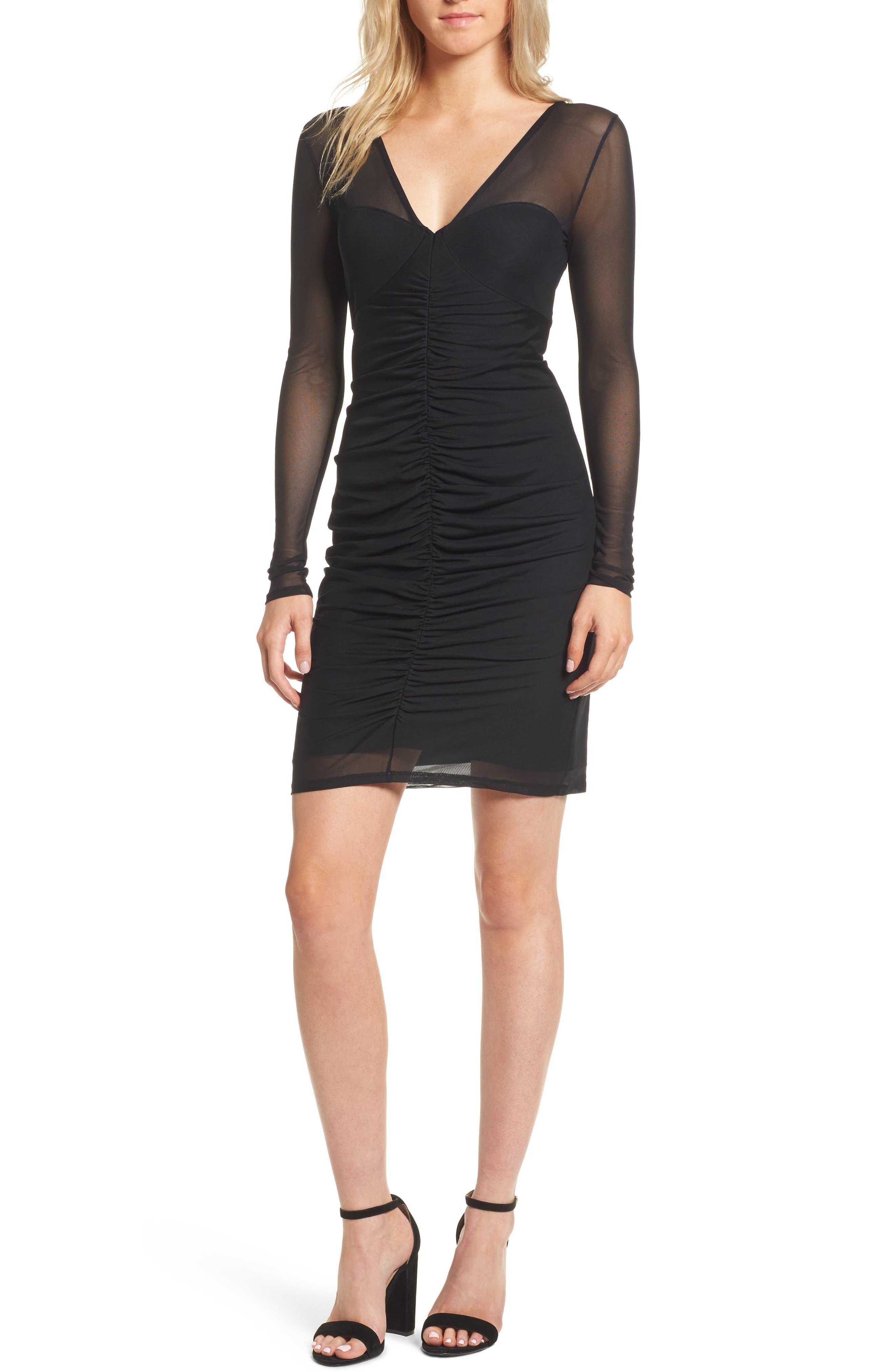Body-Con Sheath Dress,                             Main thumbnail 1, color,                             Black