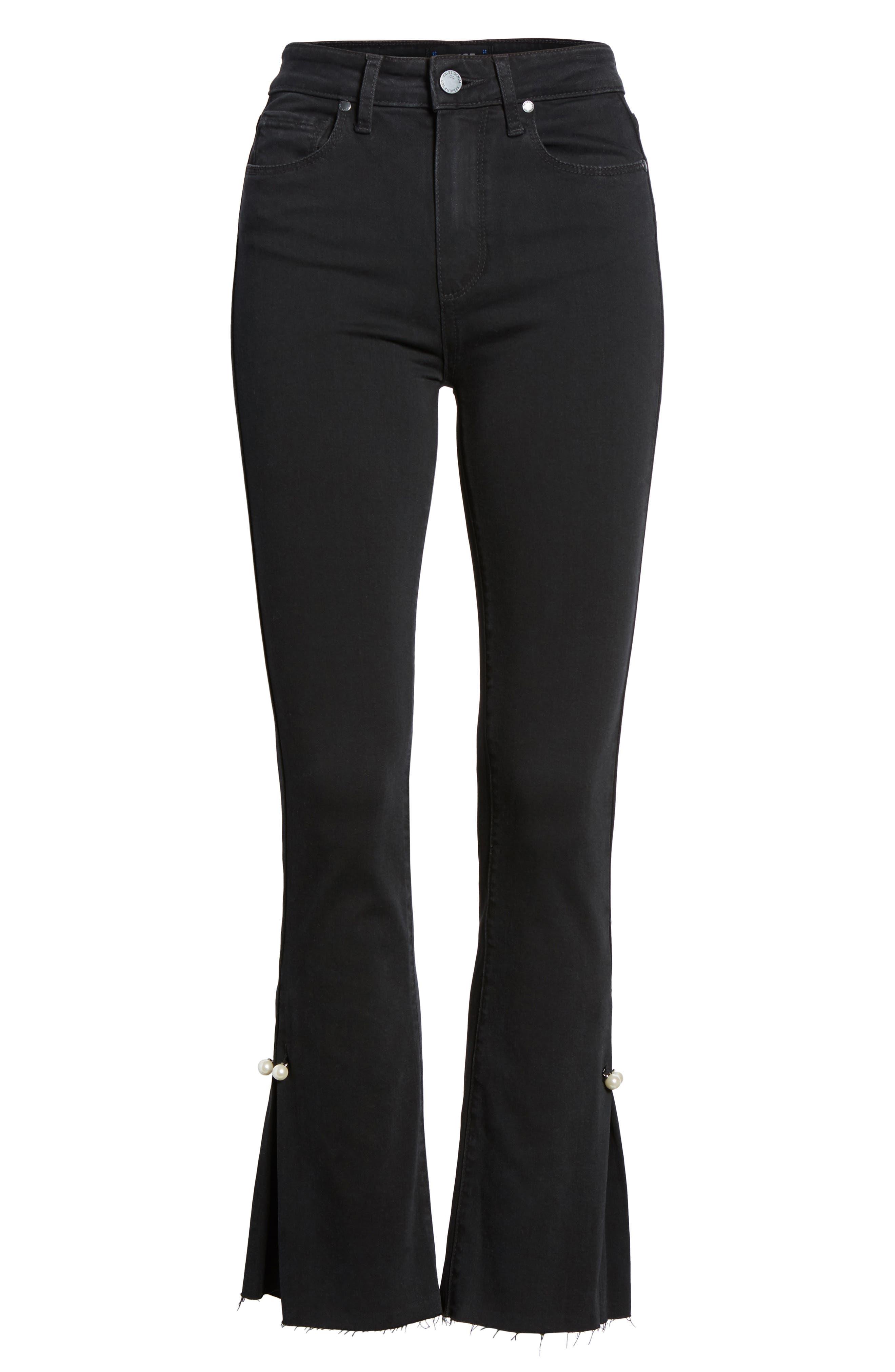 Alternate Image 7  - PAIGE Transcend - Colette High Waist Crop Flare Jeans (Bandit)