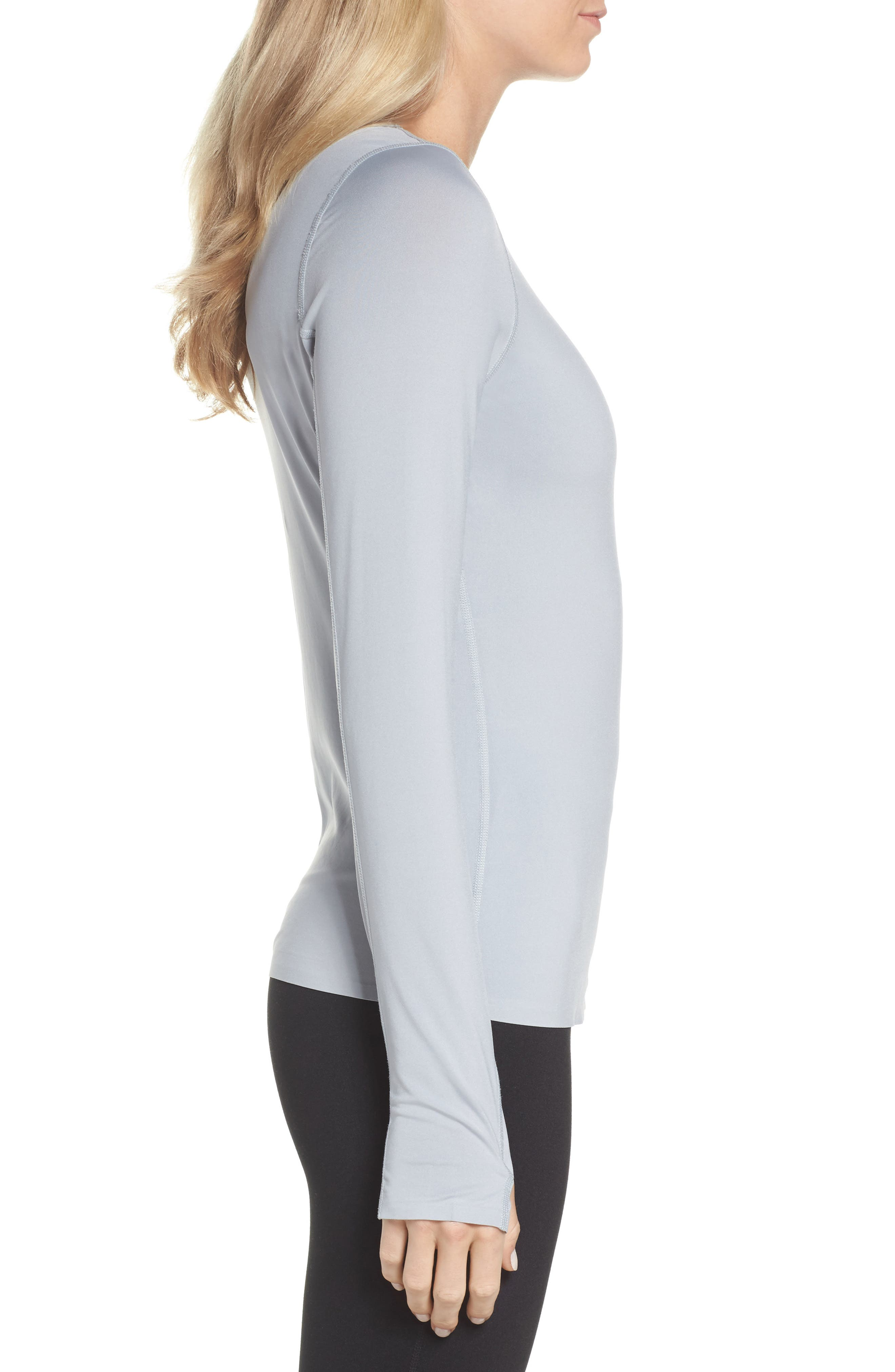 Realized Long Sleeve Tee,                             Alternate thumbnail 3, color,                             Grey Wolf