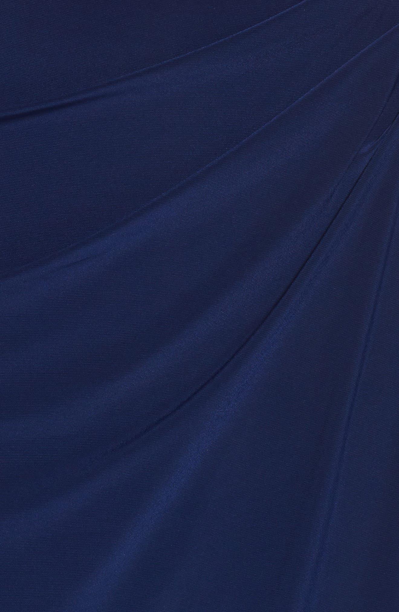 Embellished Faux Wrap Gown,                             Alternate thumbnail 5, color,                             Cobalt